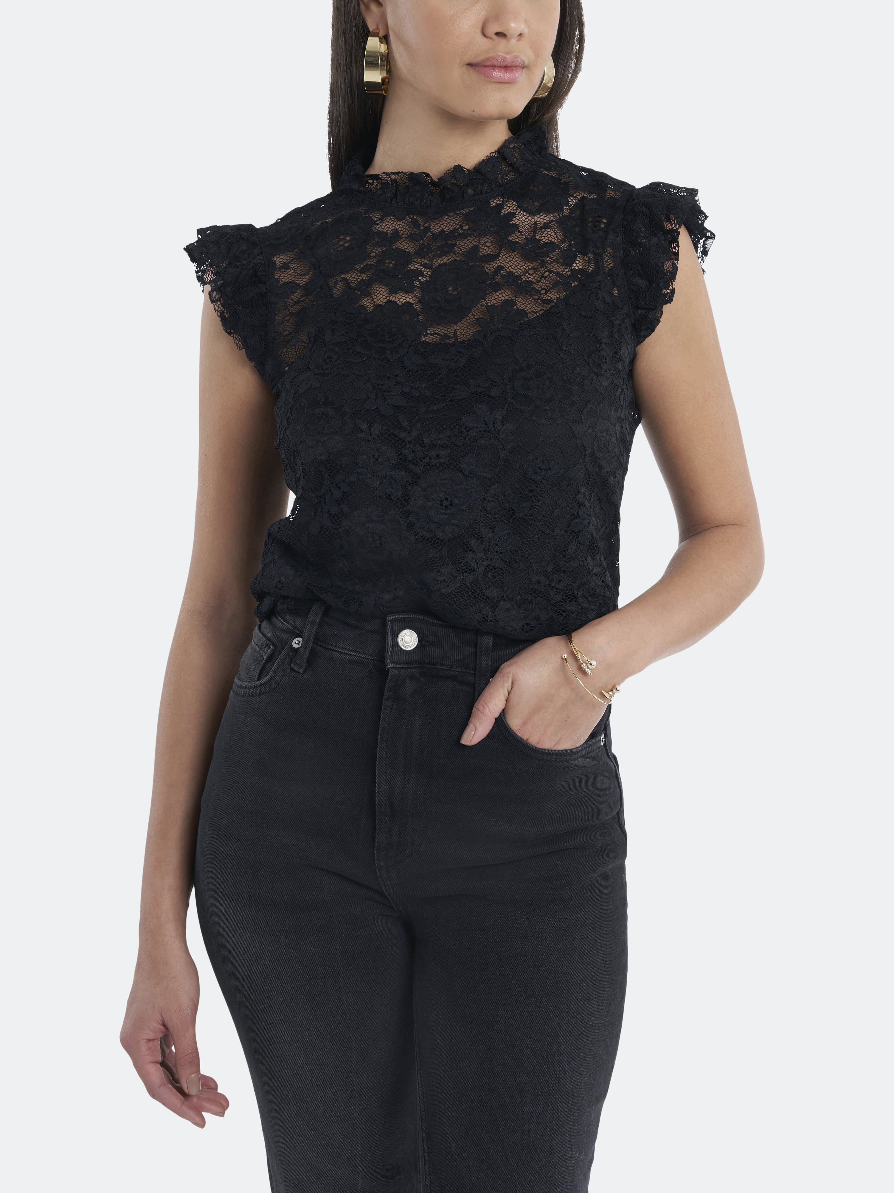 1.state 1. STATE FLUTTER SLEEVE TOP