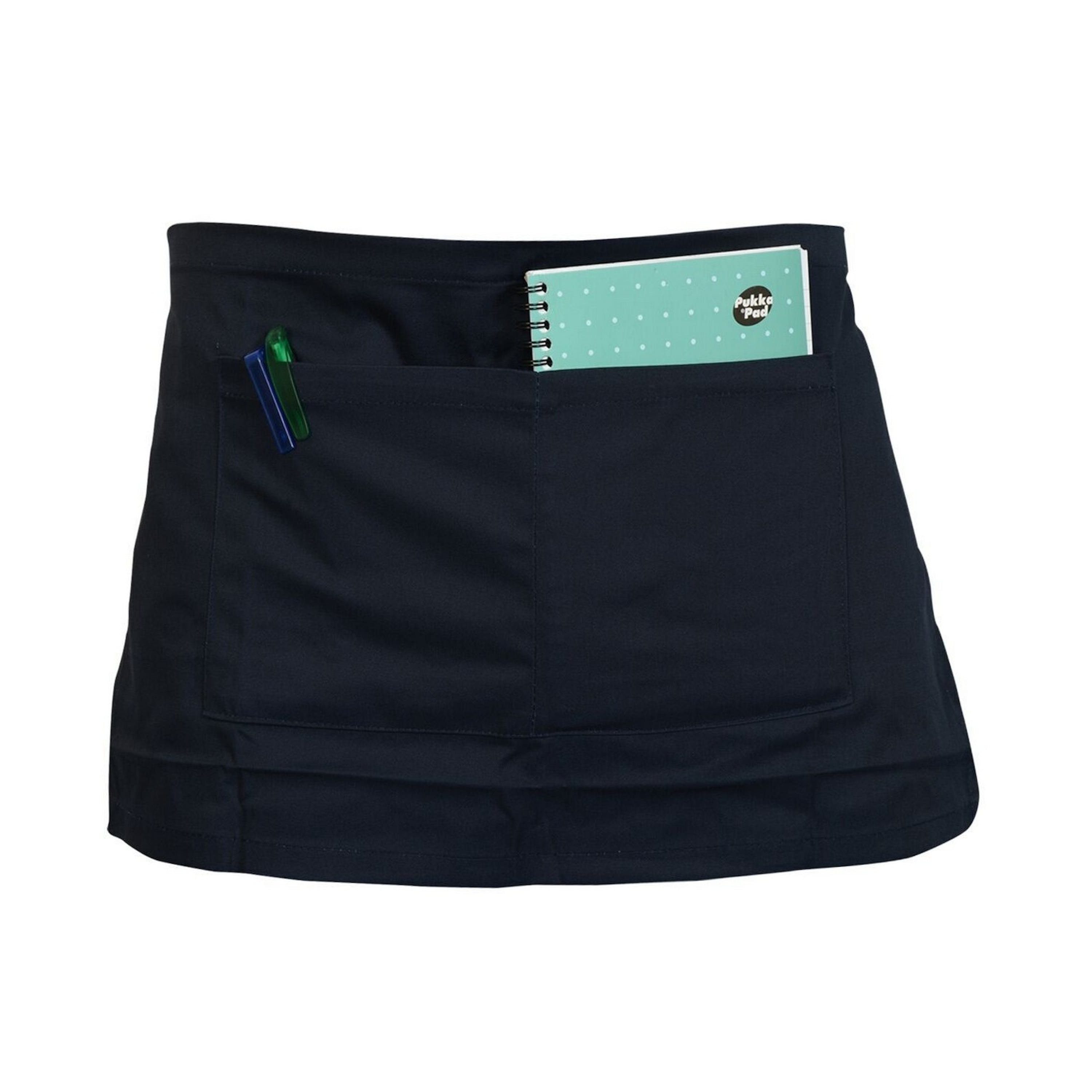 Absolute Apparel Adults Workwear Waist Apron With Pocket (pack Of 2) (navy) (one Si In Blue