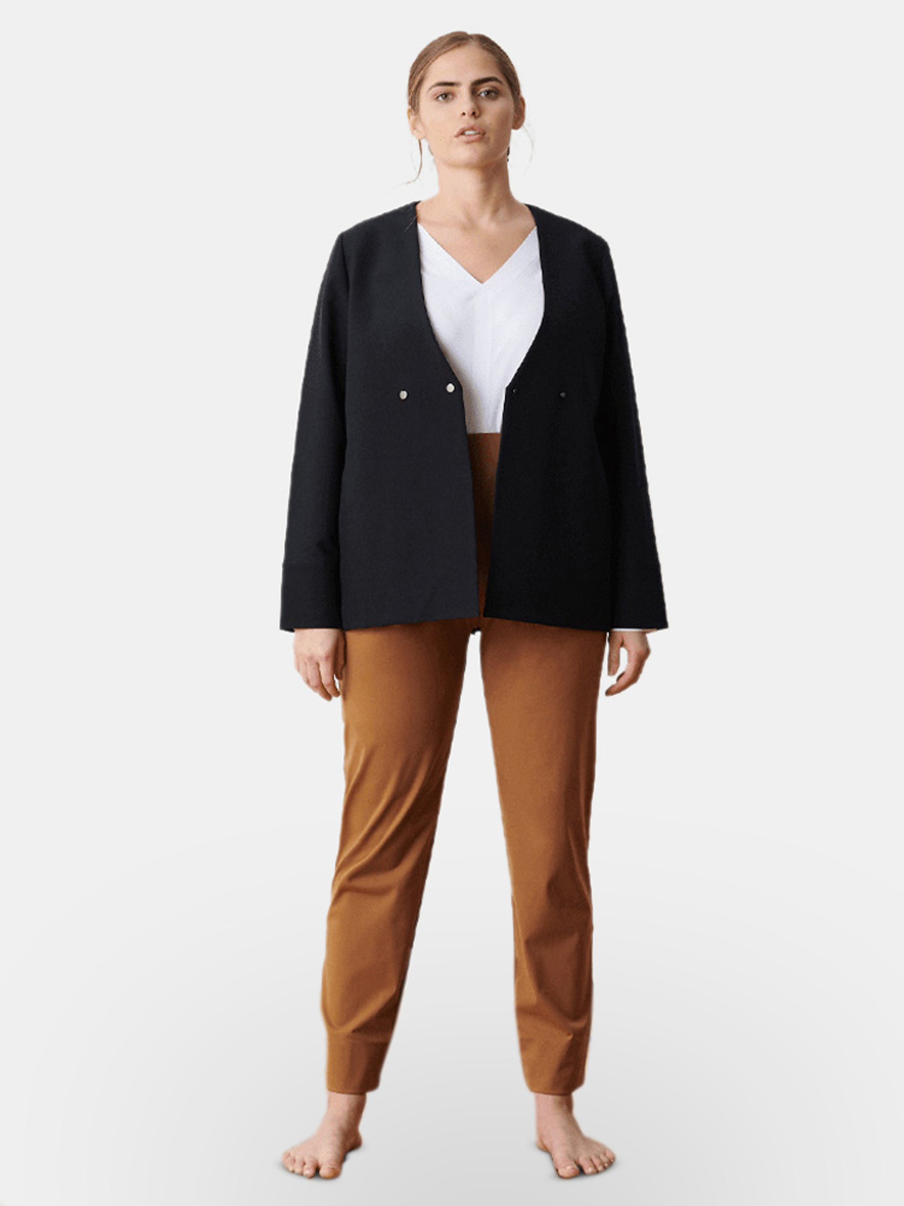 Aday Double Take Jacket In Black