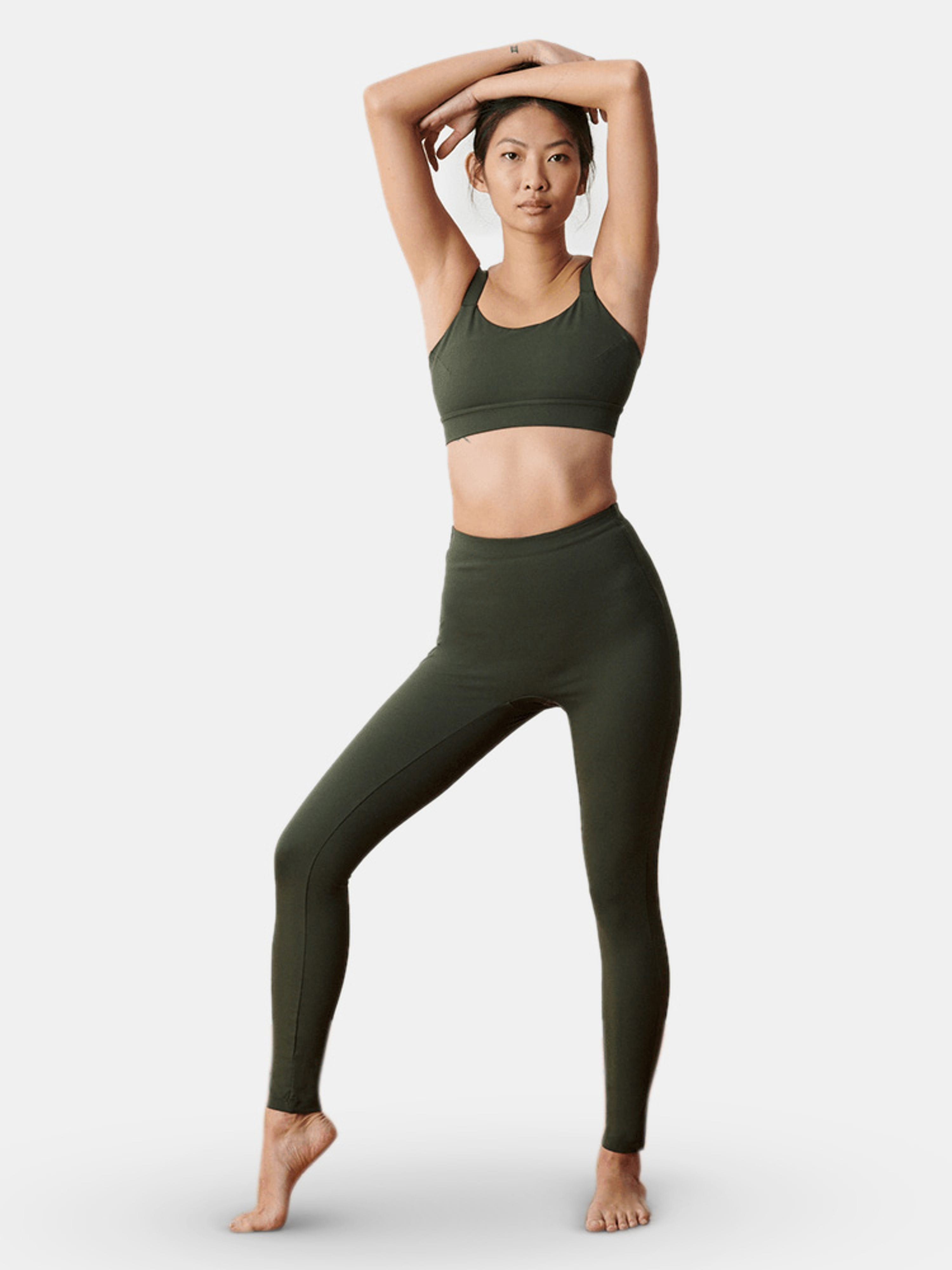 Aday Layered Up Legging In Green