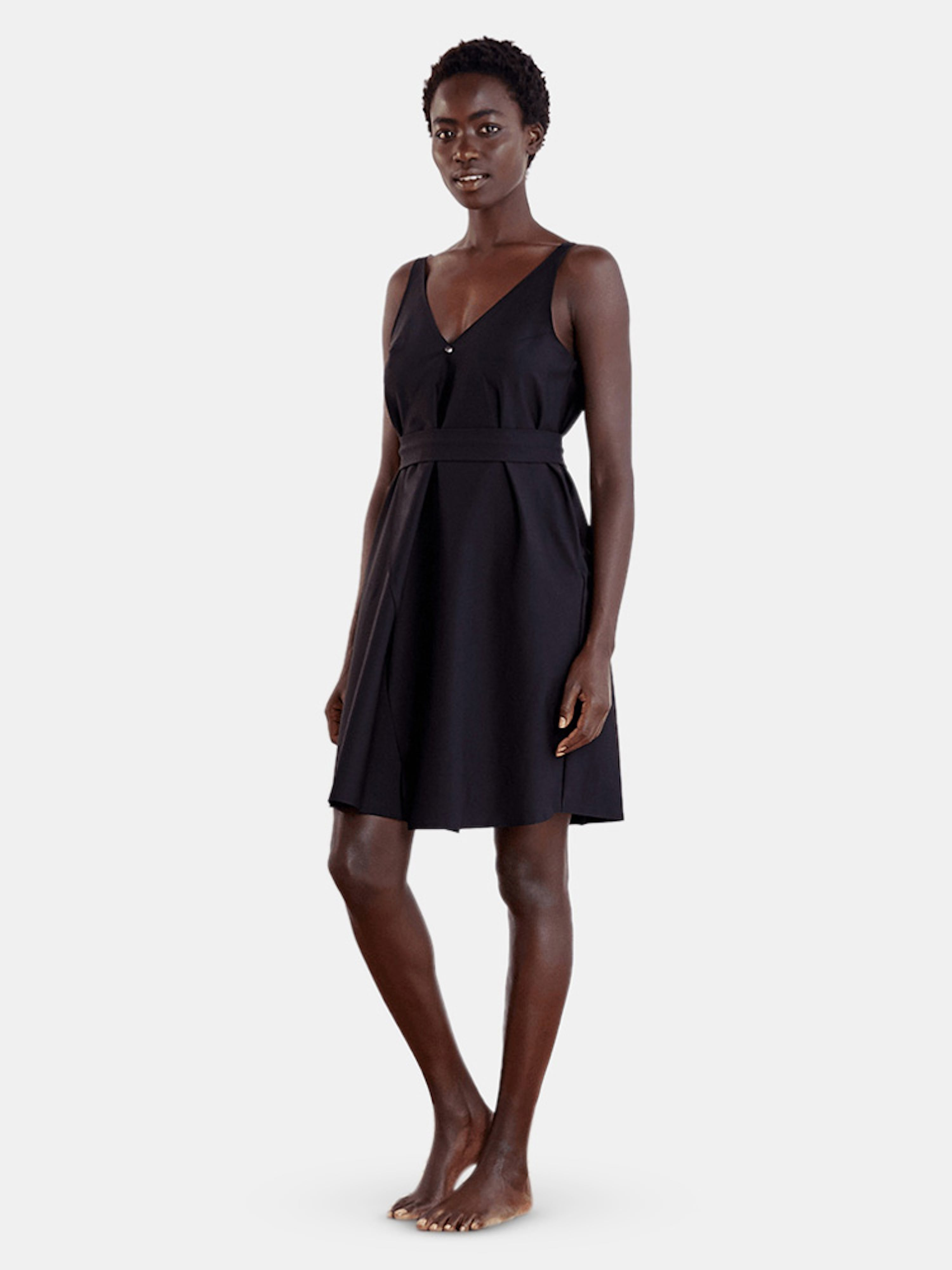 Aday Over In One Dress In Black