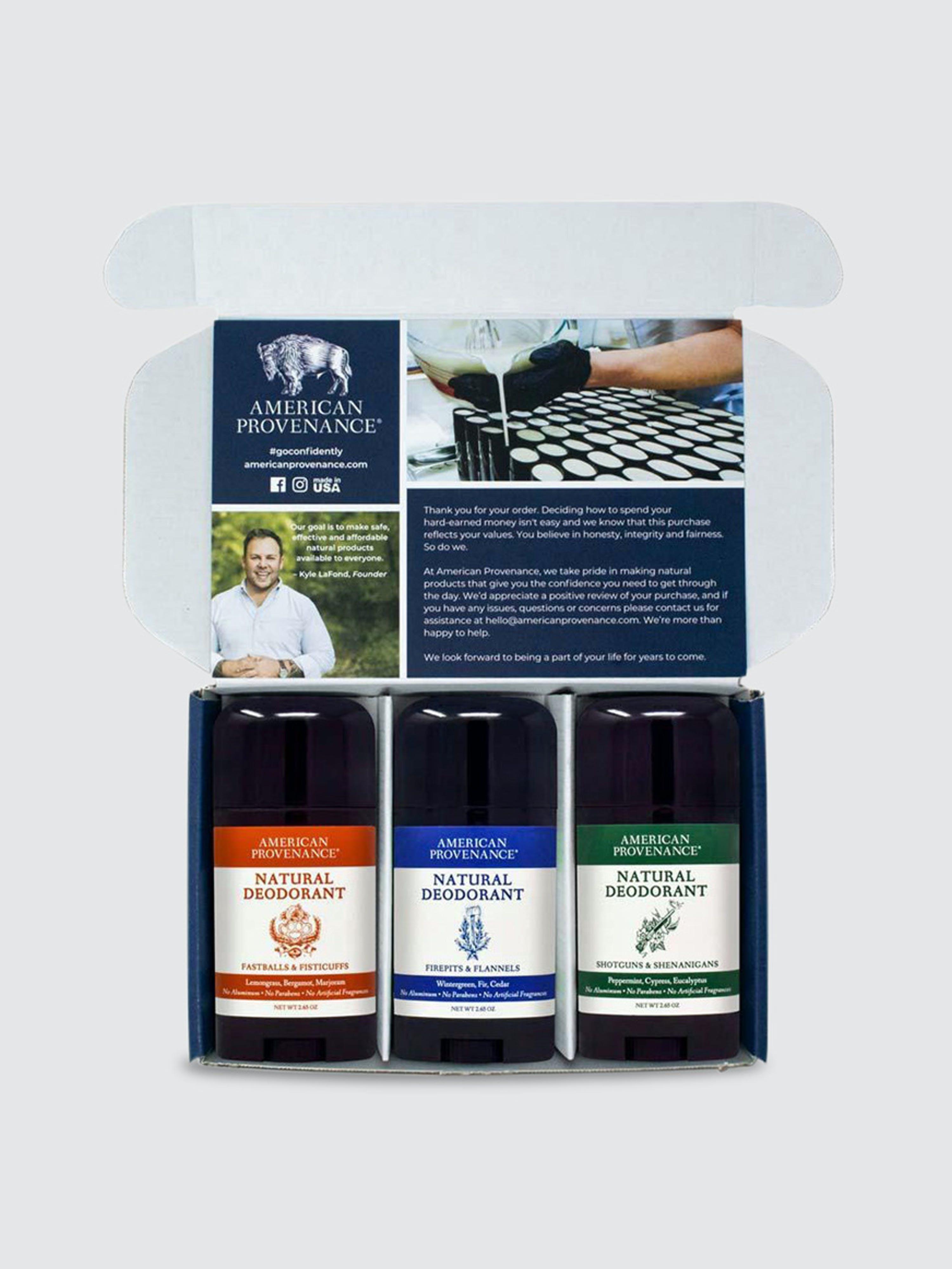 American Provenance Deodorant 3 Pack In Orange