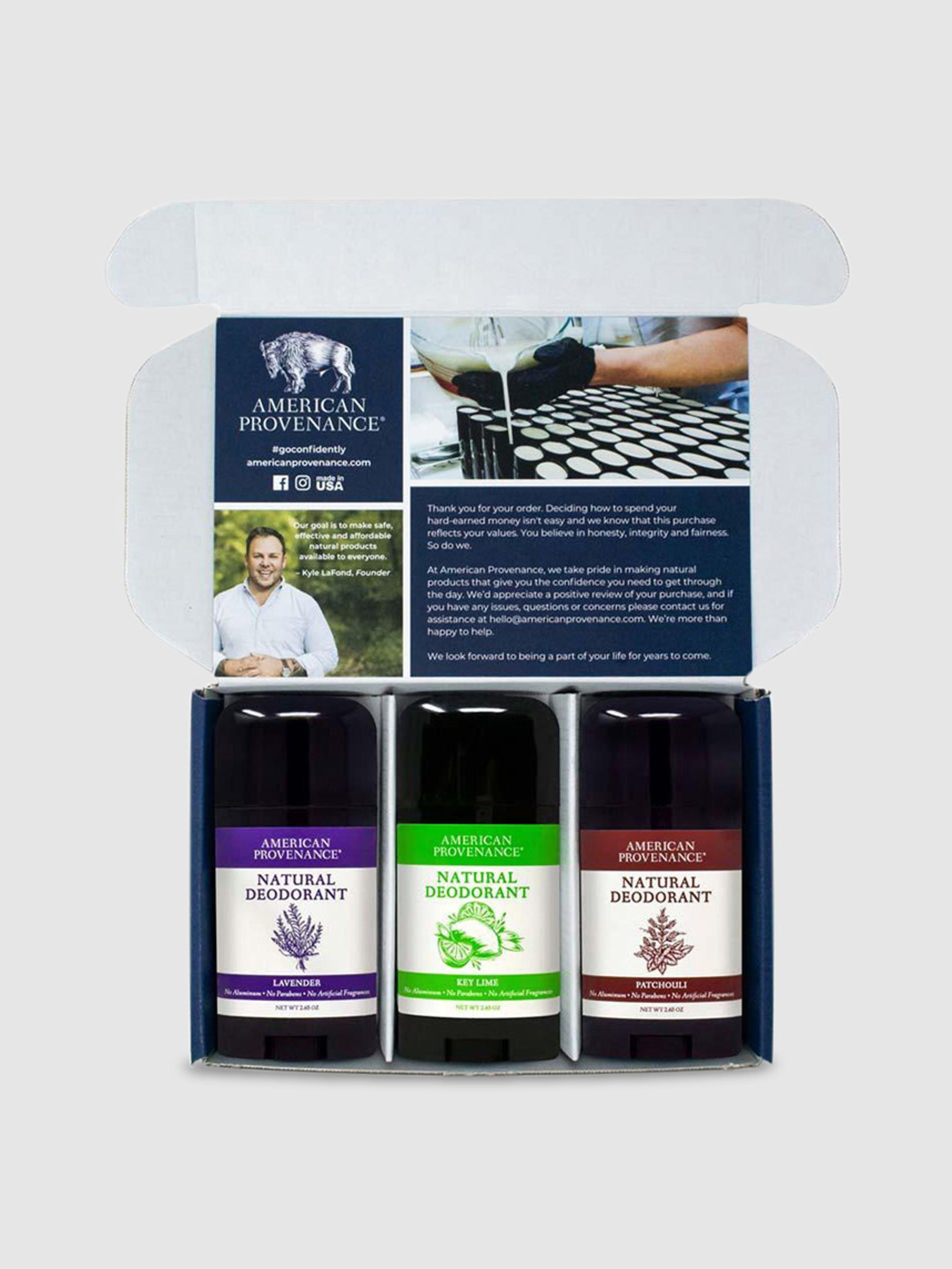 American Provenance Deodorant 3 Pack In Purple