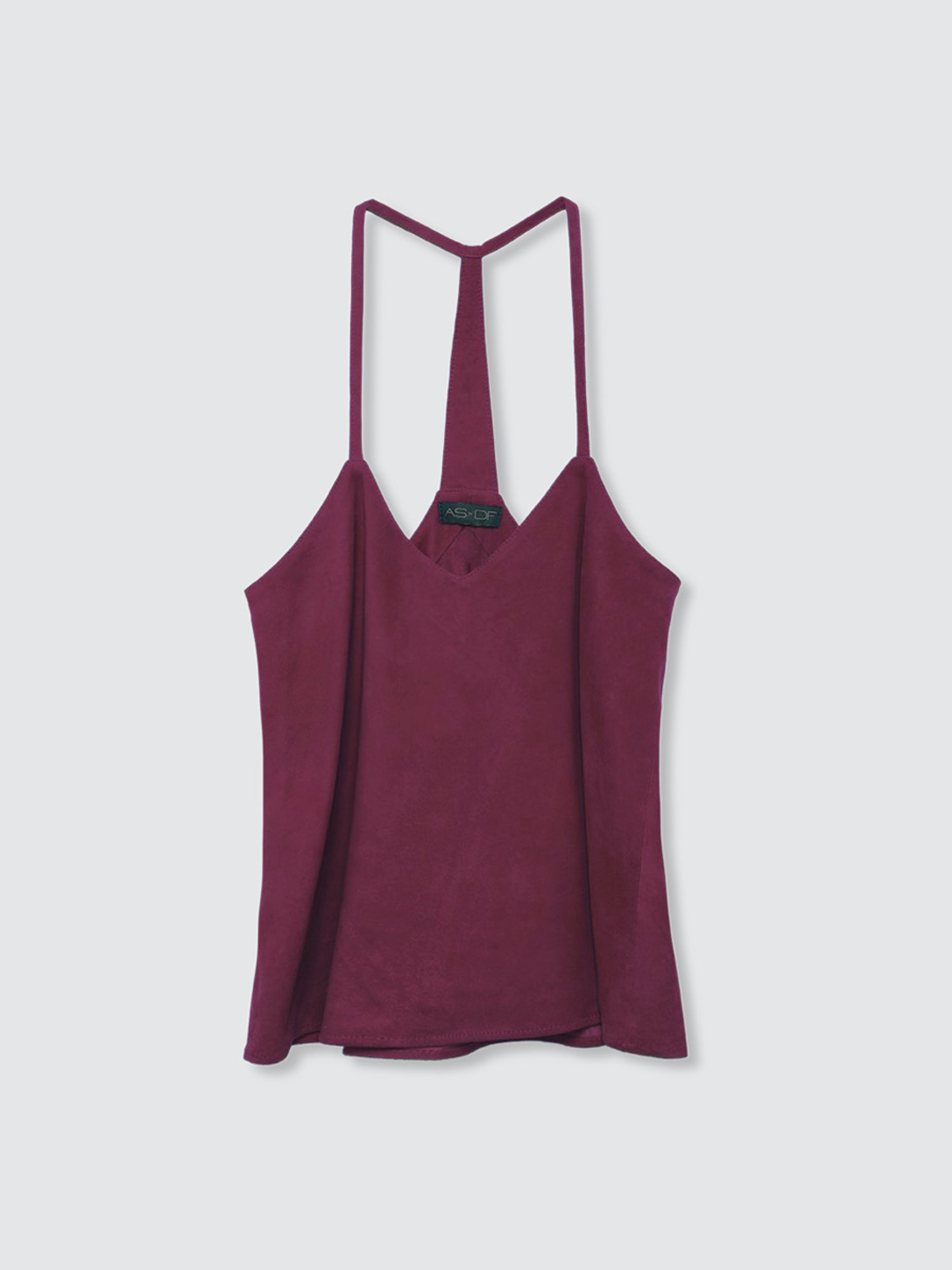 As By Df Leather Nights Cami In Burgundy