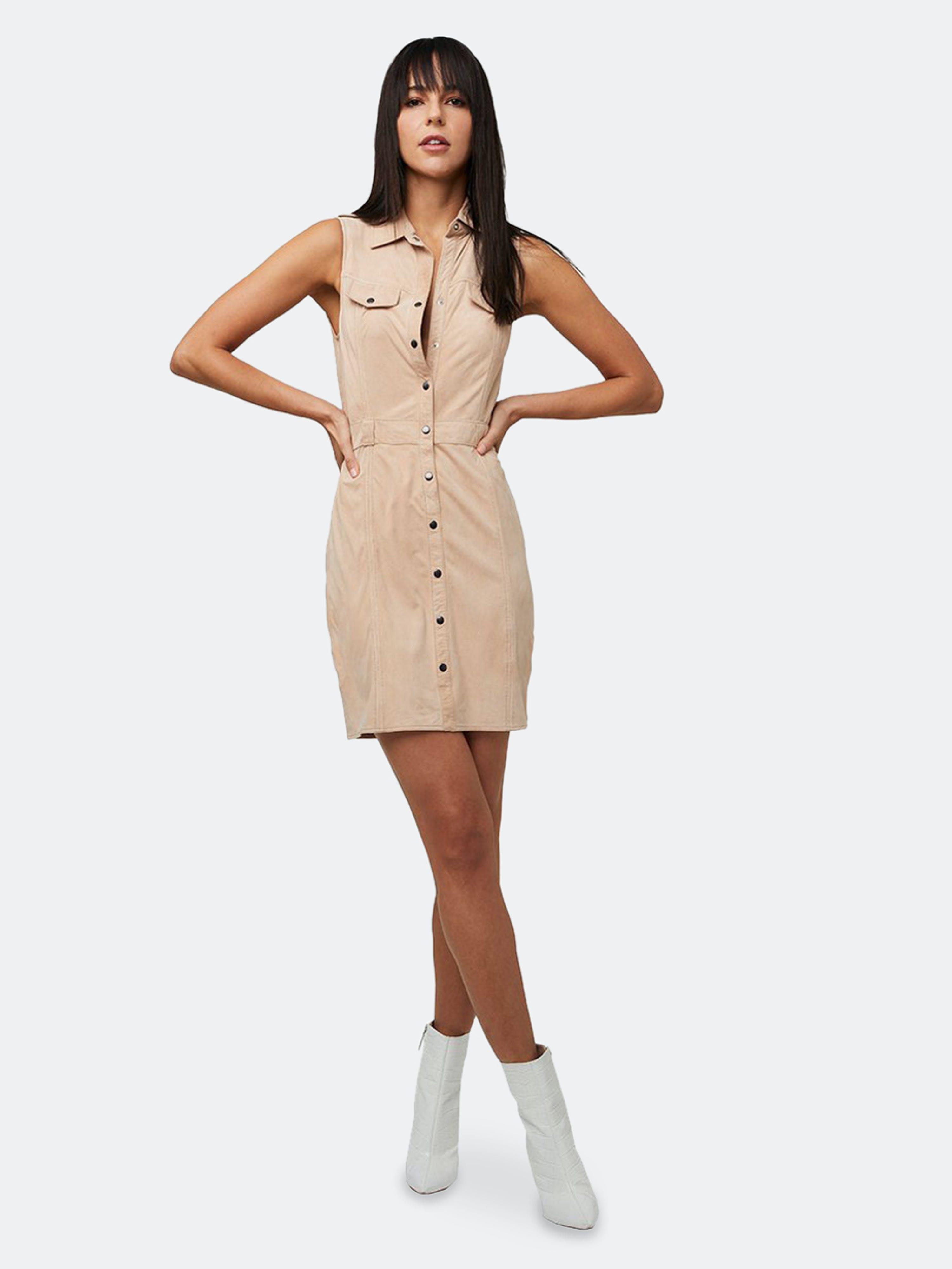 As By Df Officer Suede Dress In Brown