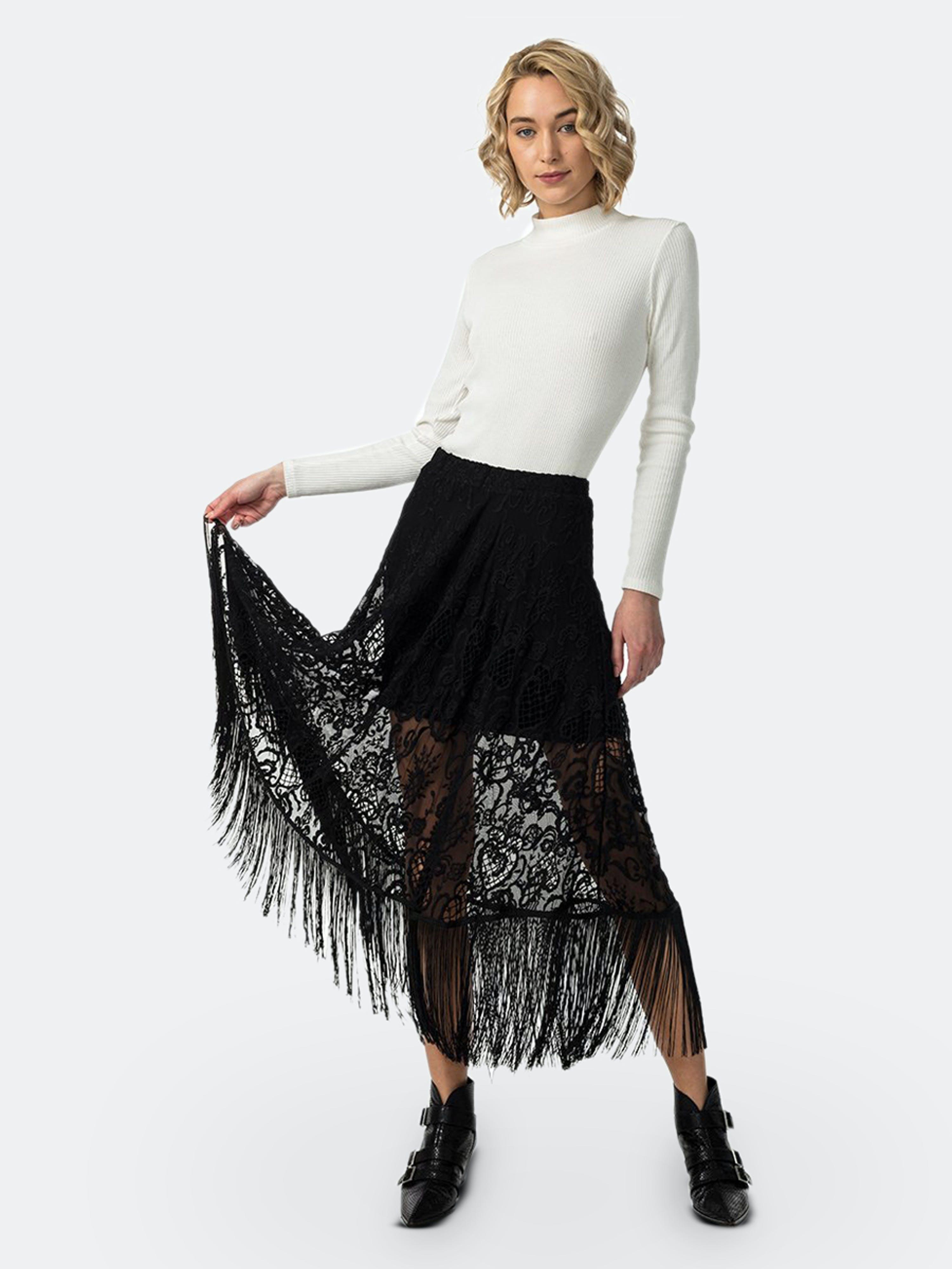 Astars Paris Lace Skirt In Black