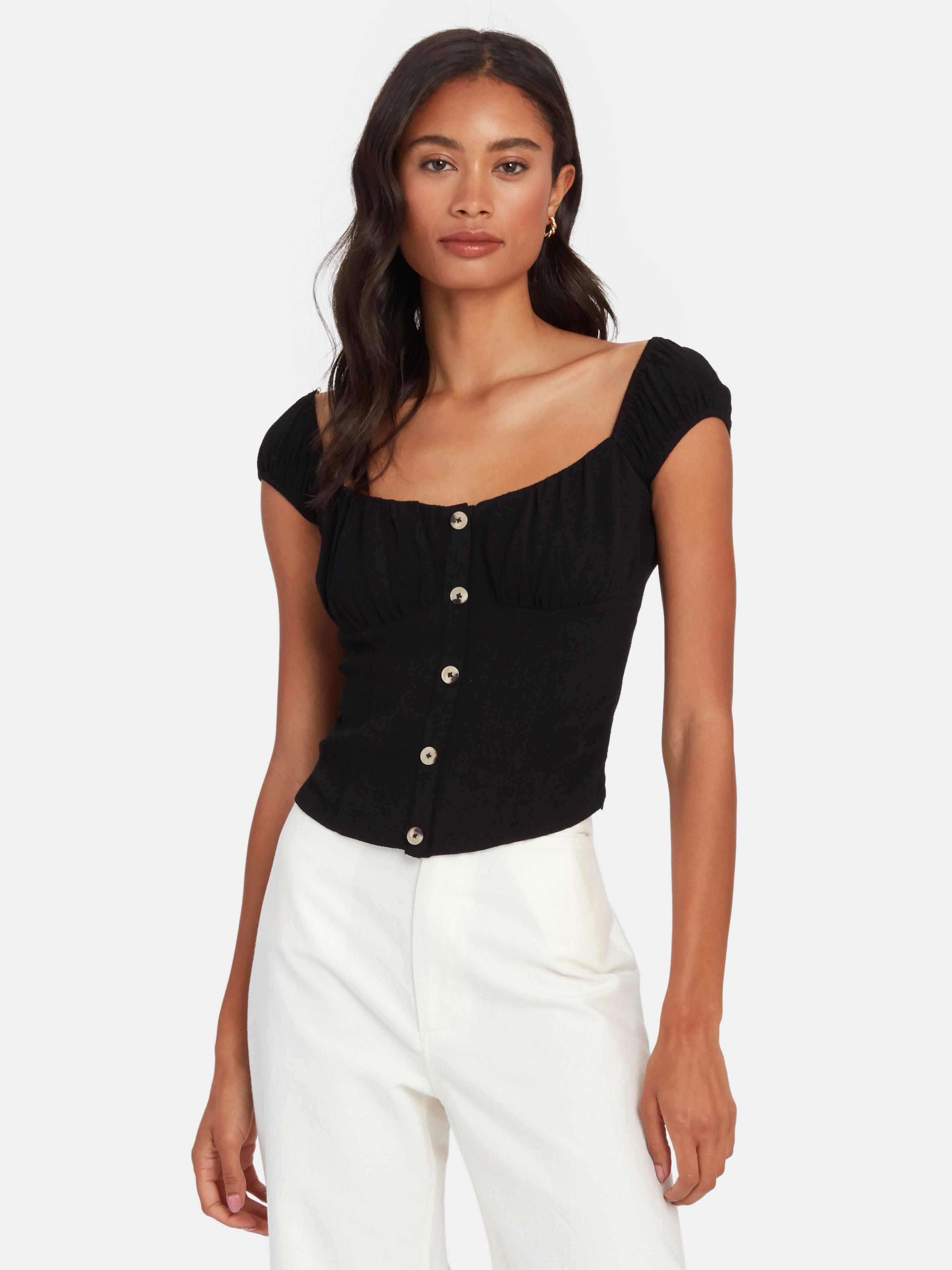 Astr BILLIE JEAN SQUARE NECK TOP