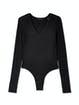 ATM Anthony Thomas Melillo Long Sleeve V-Neck Bodysuit product image