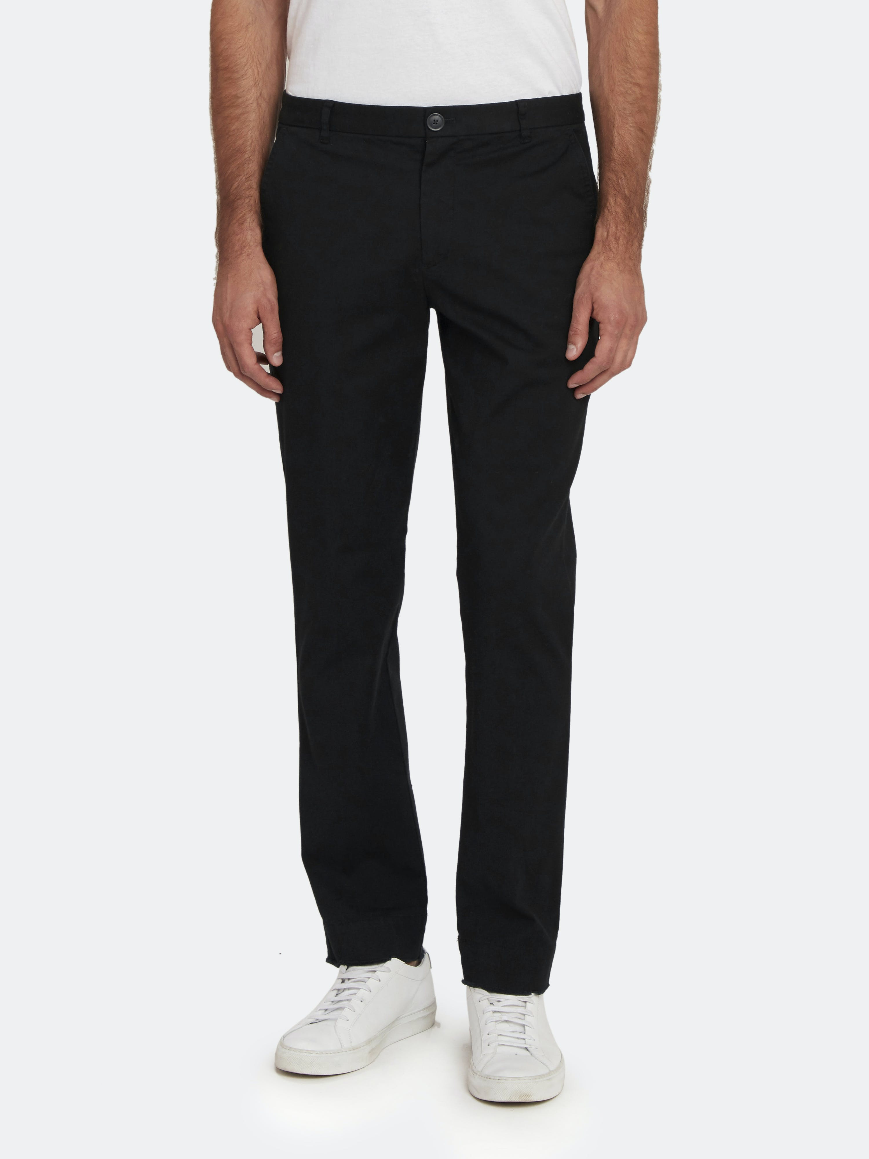 Atm Anthony Thomas Melillo Men's Enzyme-washed Cotton Trousers In Black