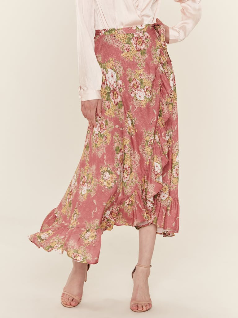 Auguste The Label Bonnie Cascade Wrap Skirt product image