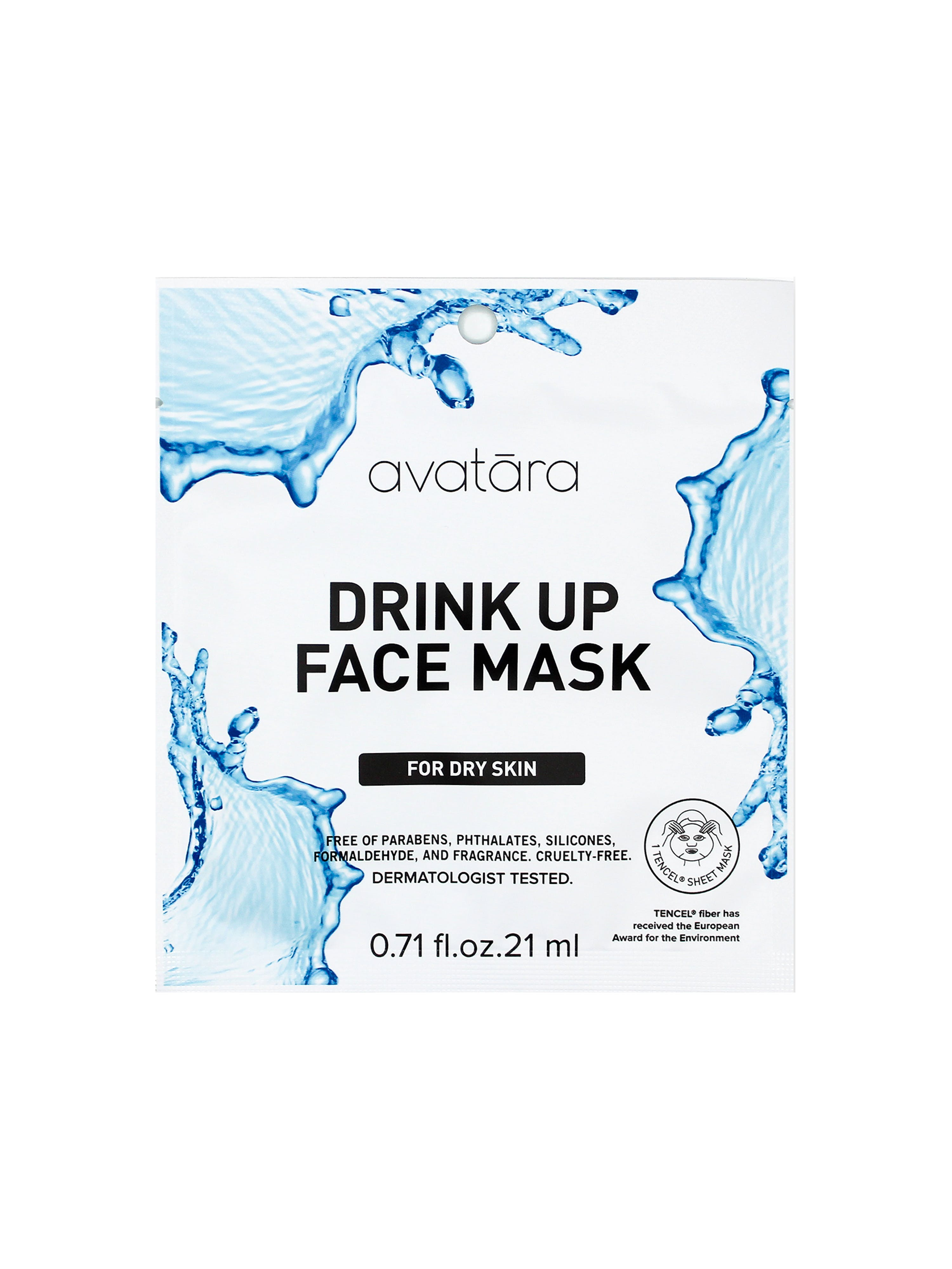 Avatara Drink Up Face Mask In White