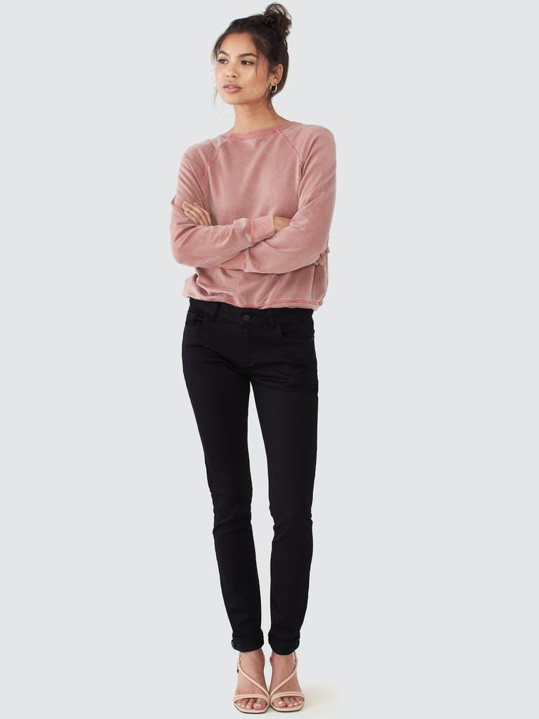 Back Beat Rags Tencel Cropped Sweatshirt product image
