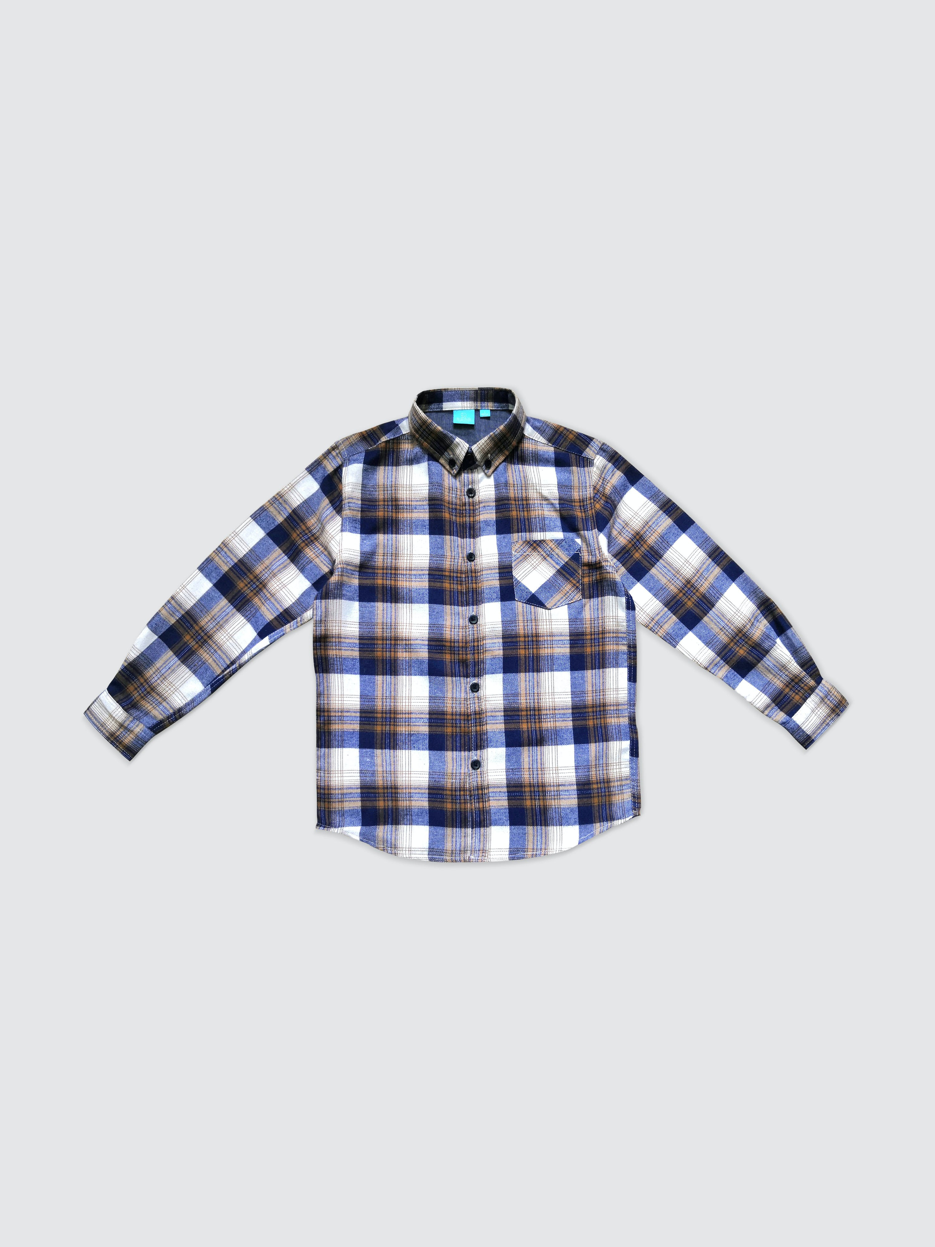 Bear Camp Gregory Button Down Boy In Blue