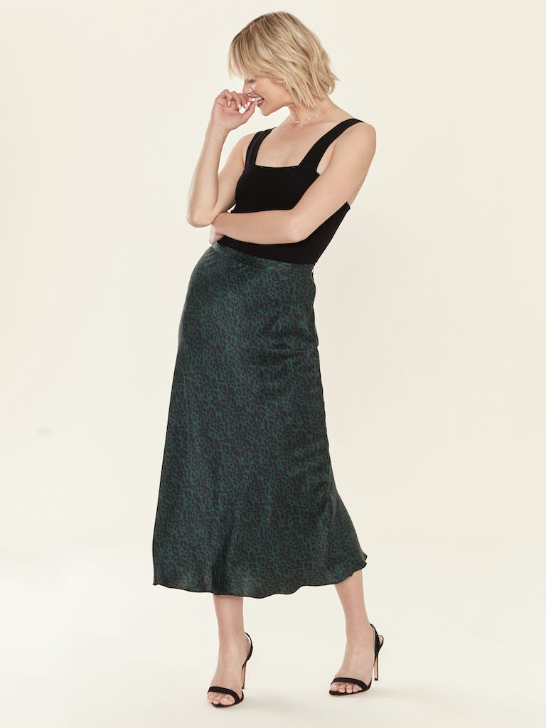 Bec & Bridge Animale Fever Silk Bias Skirt product image