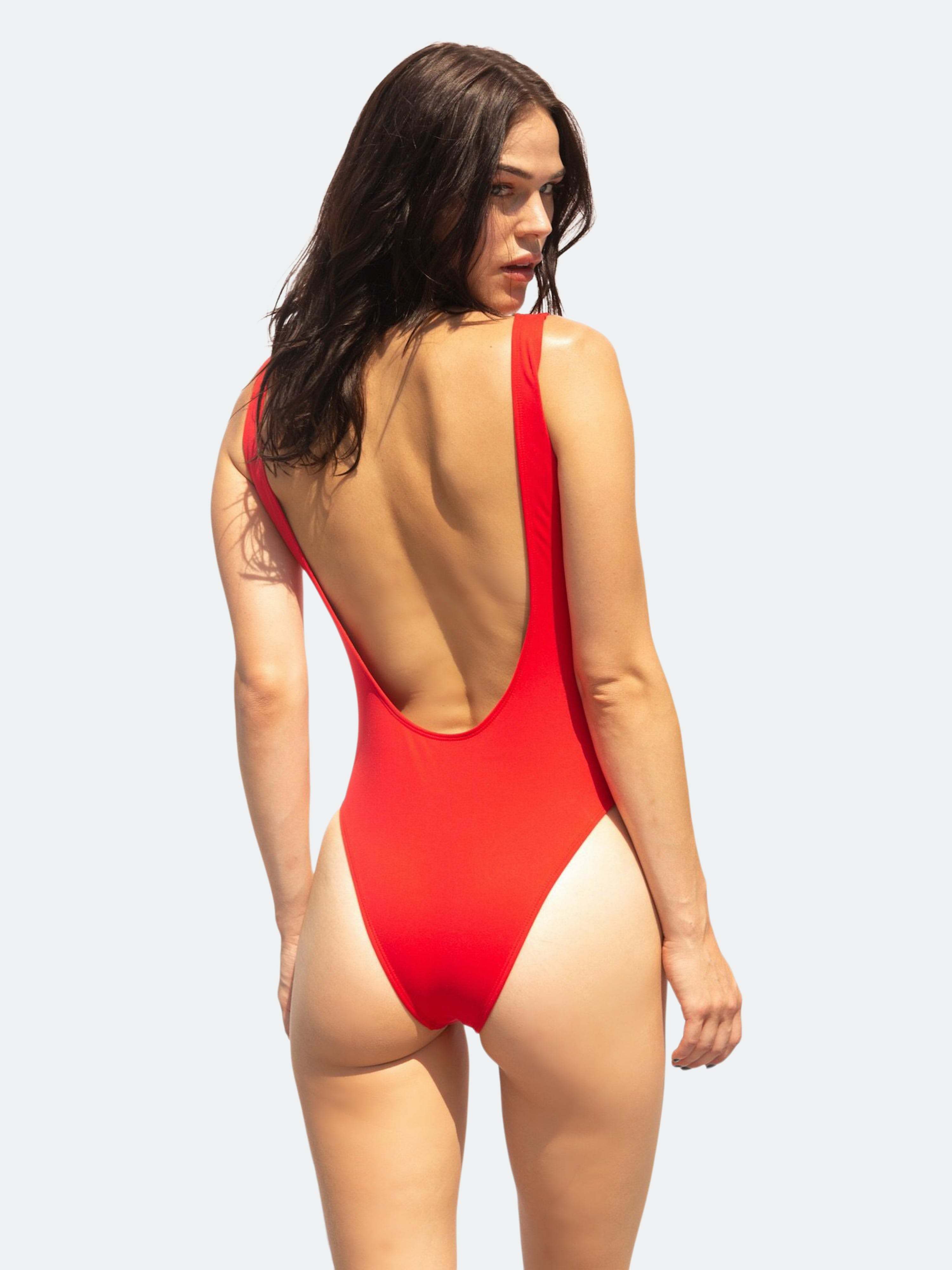 Bezzant Fire Swimsuit In Red