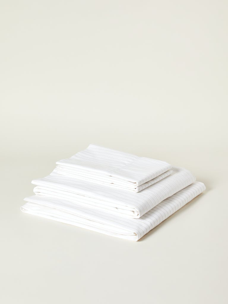 Boll & Branch Percale Simple Stripe Organic Cotton Sheet Set product image