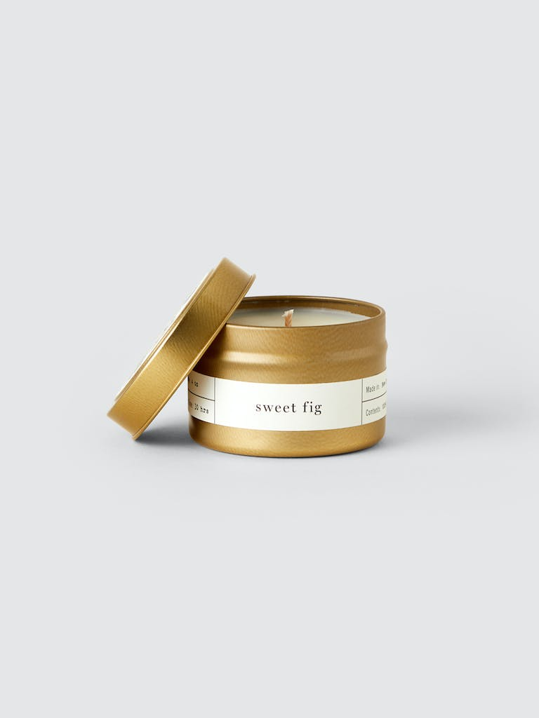 Brooklyn Candle Studio Sweet Fig Gold Travel Candle product image
