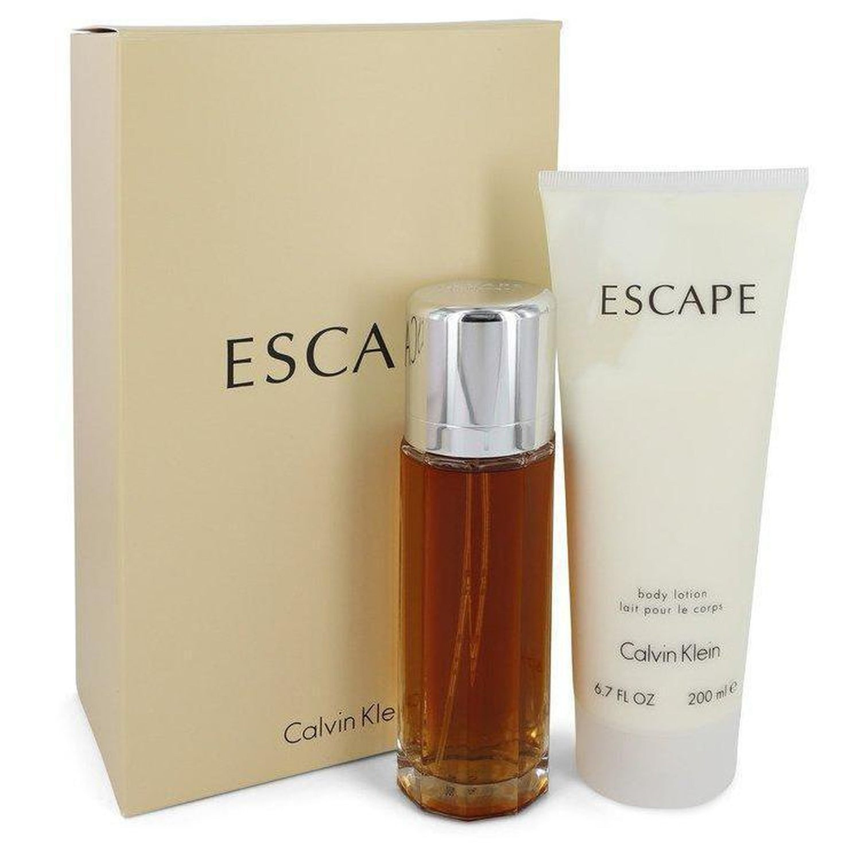 Calvin Klein Escape By  Gift Set -- 3.4 oz Eau De Parfum Spray + 6.7 oz Body Lotion