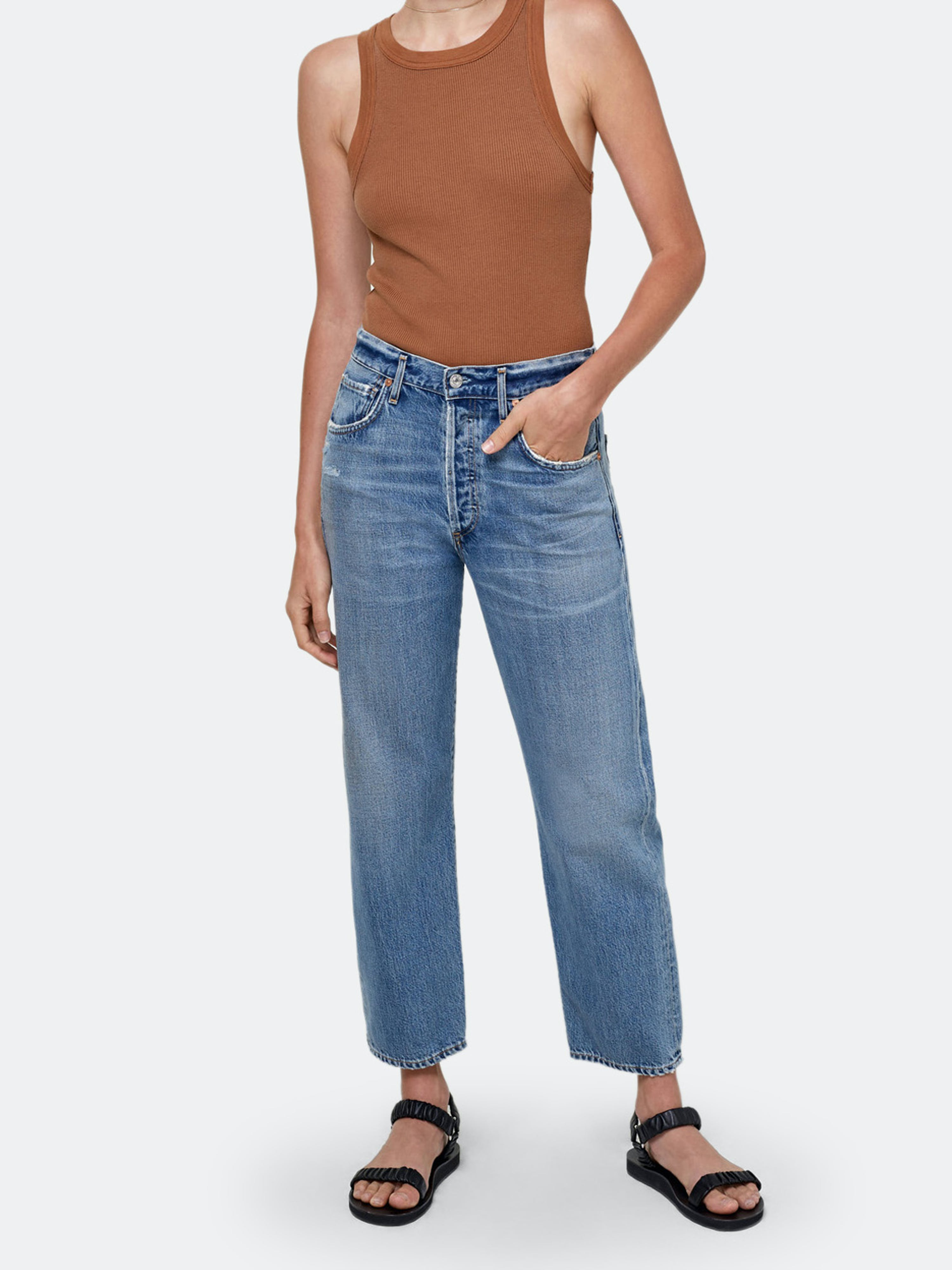 Citizens Of Humanity CITIZENS OF HUMANITY EMERY HIGH RISE CROPPED STRAIGHT FIT JEANS