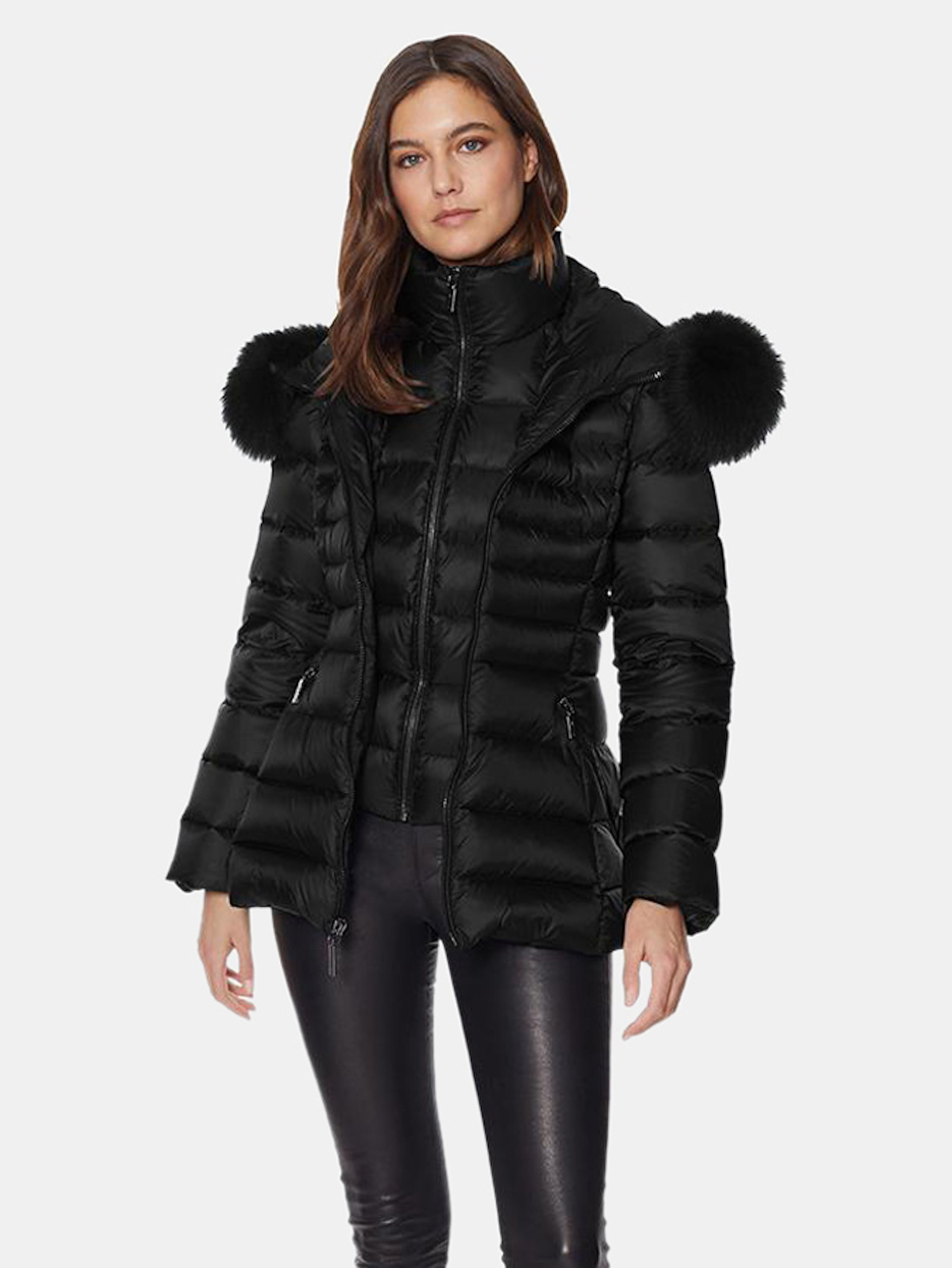 Dawn Levy Val Gem Midweight Puffer With Bib In Black