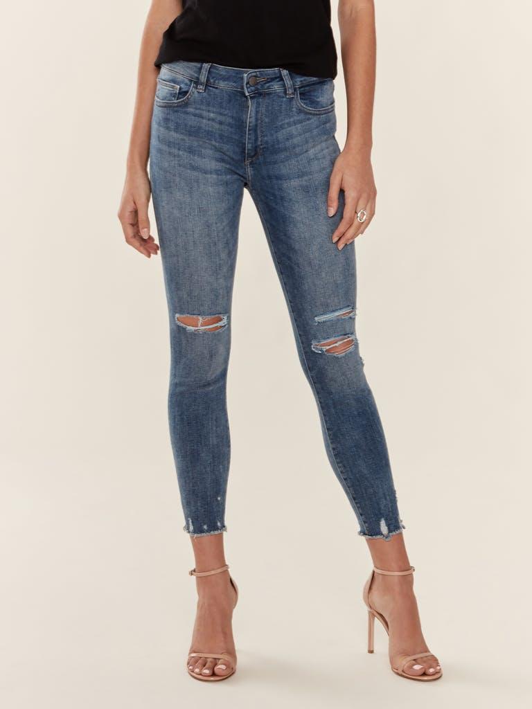 DL1961 Florence Instasculpt Crop Skinny Jeans product image