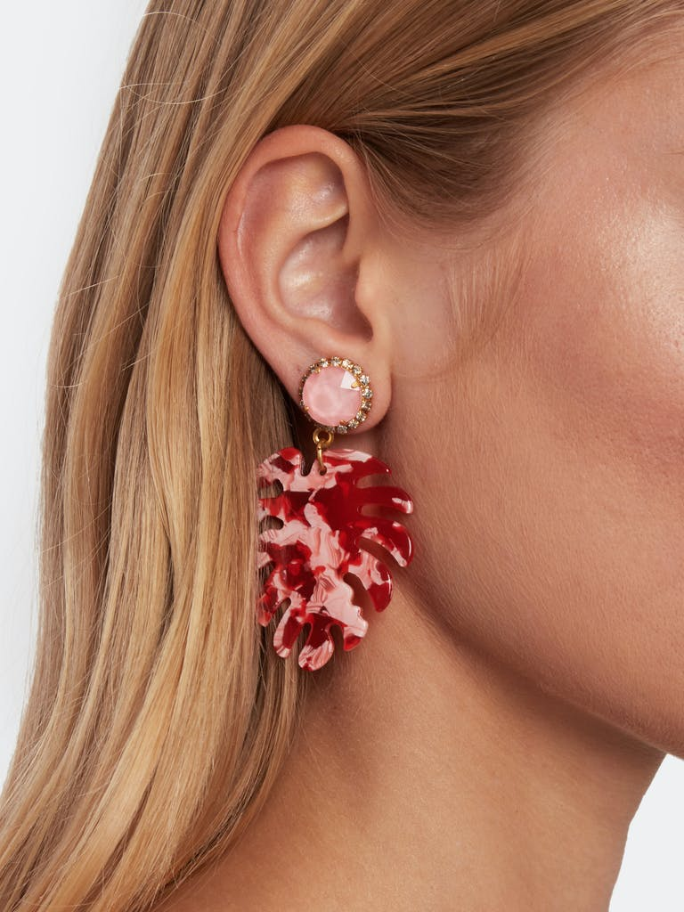 Elizabeth Cole Chloe Leaf Earrings product image
