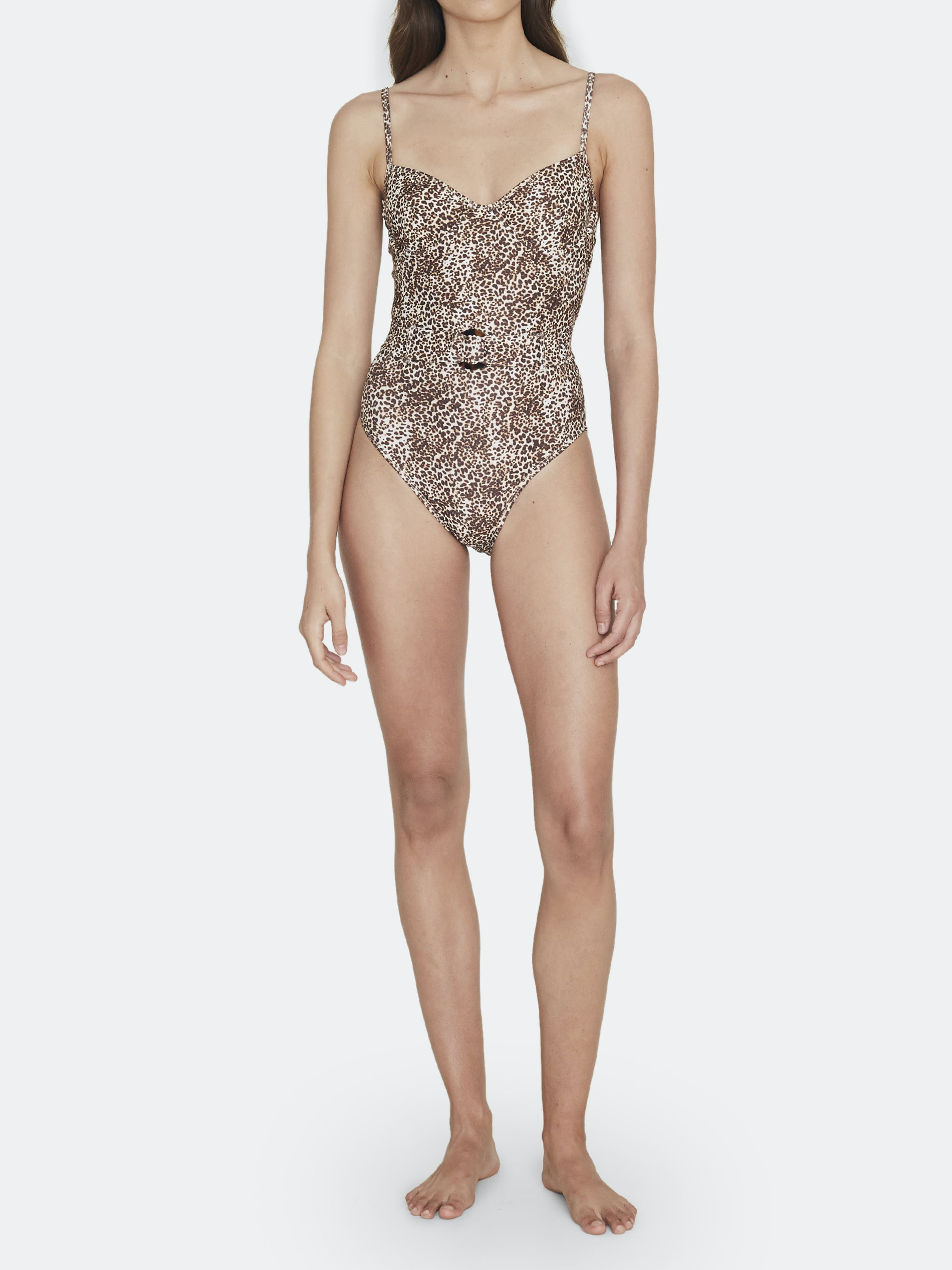 Faithfull The Brand AMALFI BELTED ONE-PIECE SWIMSUIT