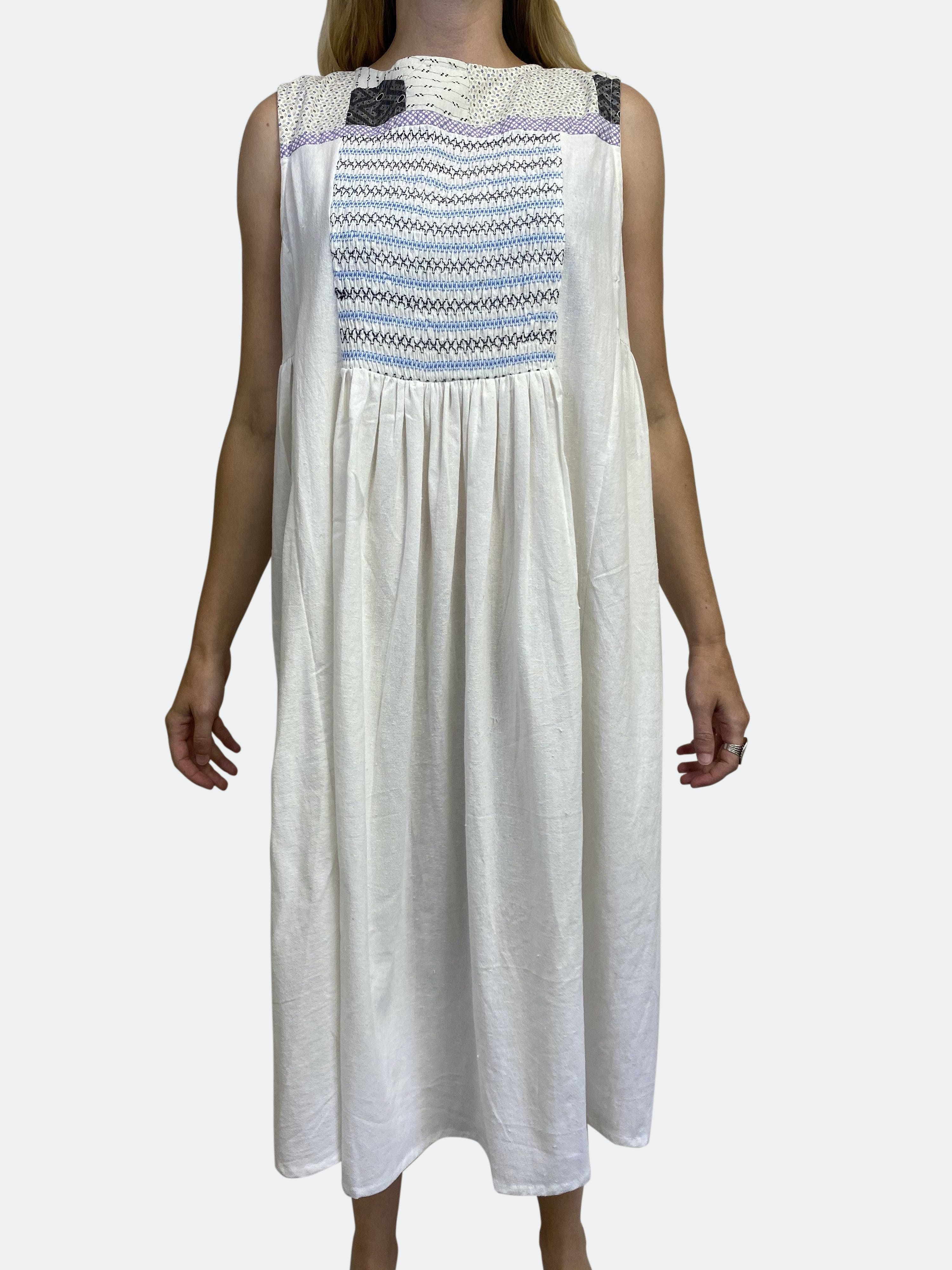 Farewell Frances Georgie Dress L/xl In Blue