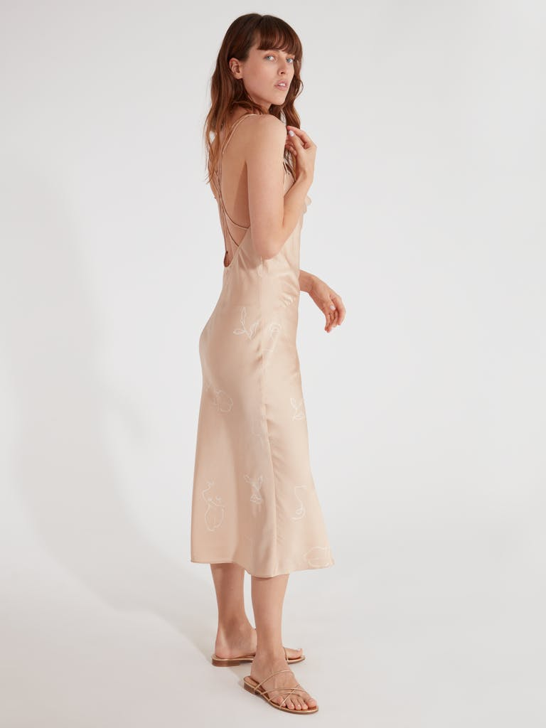 Finders Keepers Cristina Slip Midi Dress product image