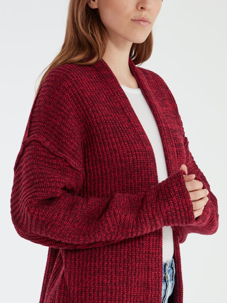 Free People High Hopes Marbled Rib Knit Cardigan Sweater product image
