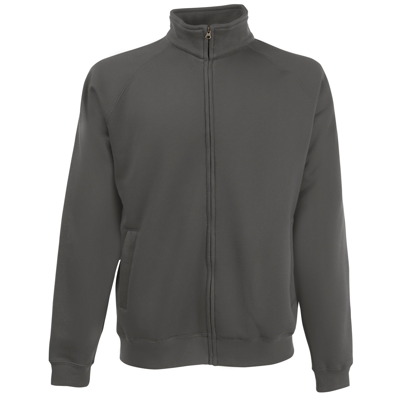 Fruit Of The Loom Mens Premium 70/30 Full Zip Sweatshirt Jacket (light Graphite) In Grey