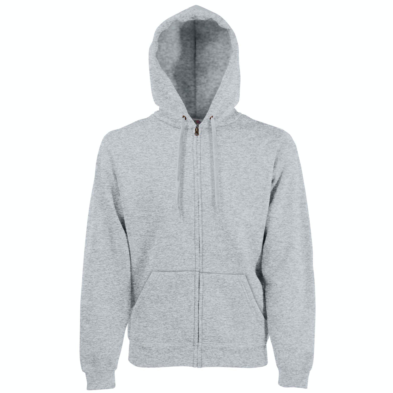 Fruit Of The Loom Mens Premium 70/30 Hooded Zip-up Sweatshirt / Hoodie (heather Gr In Grey