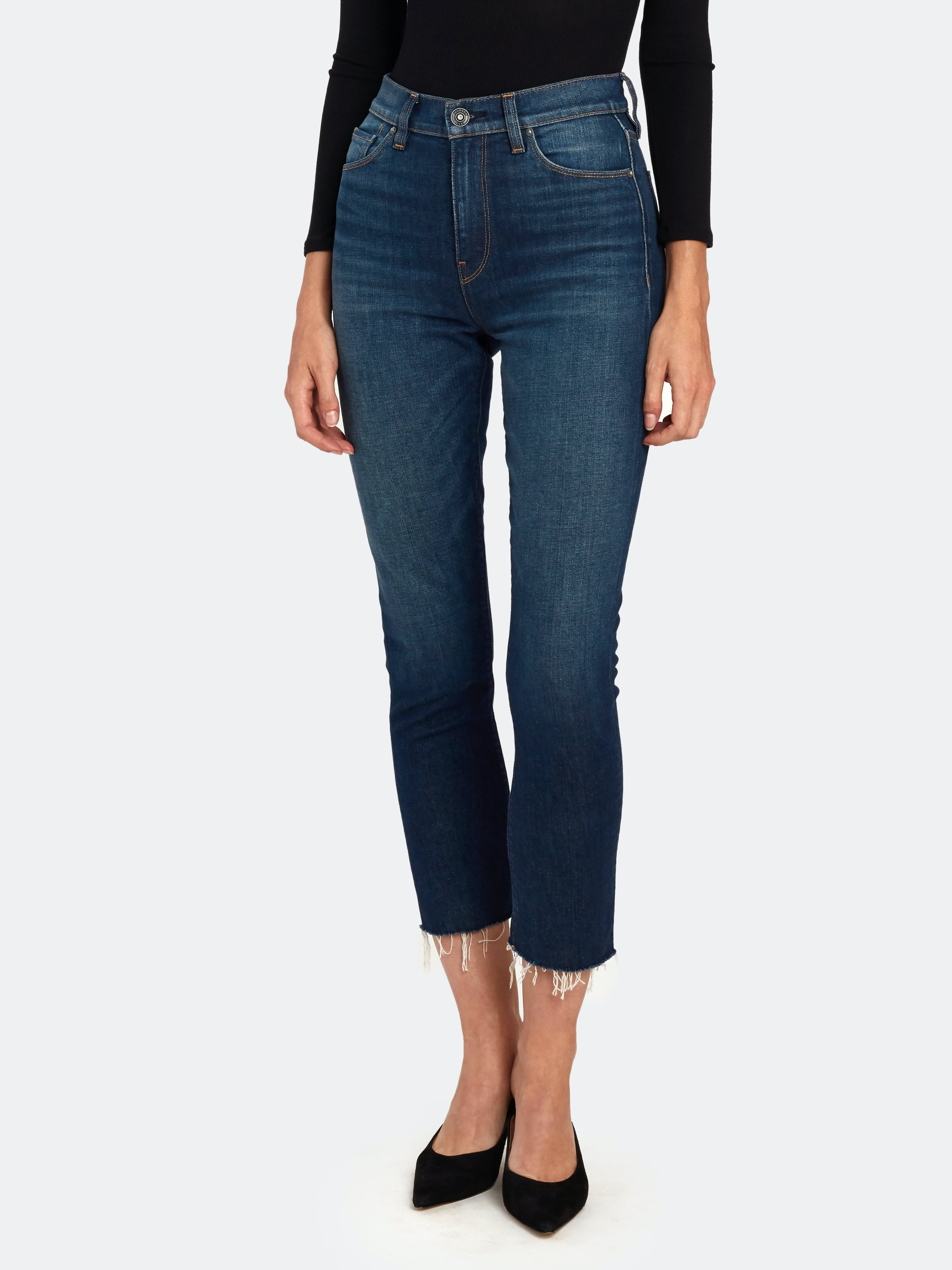 Hudson HUDSON JEANS HOLLY HIGH RISE CROP STRAIGHT JEANS
