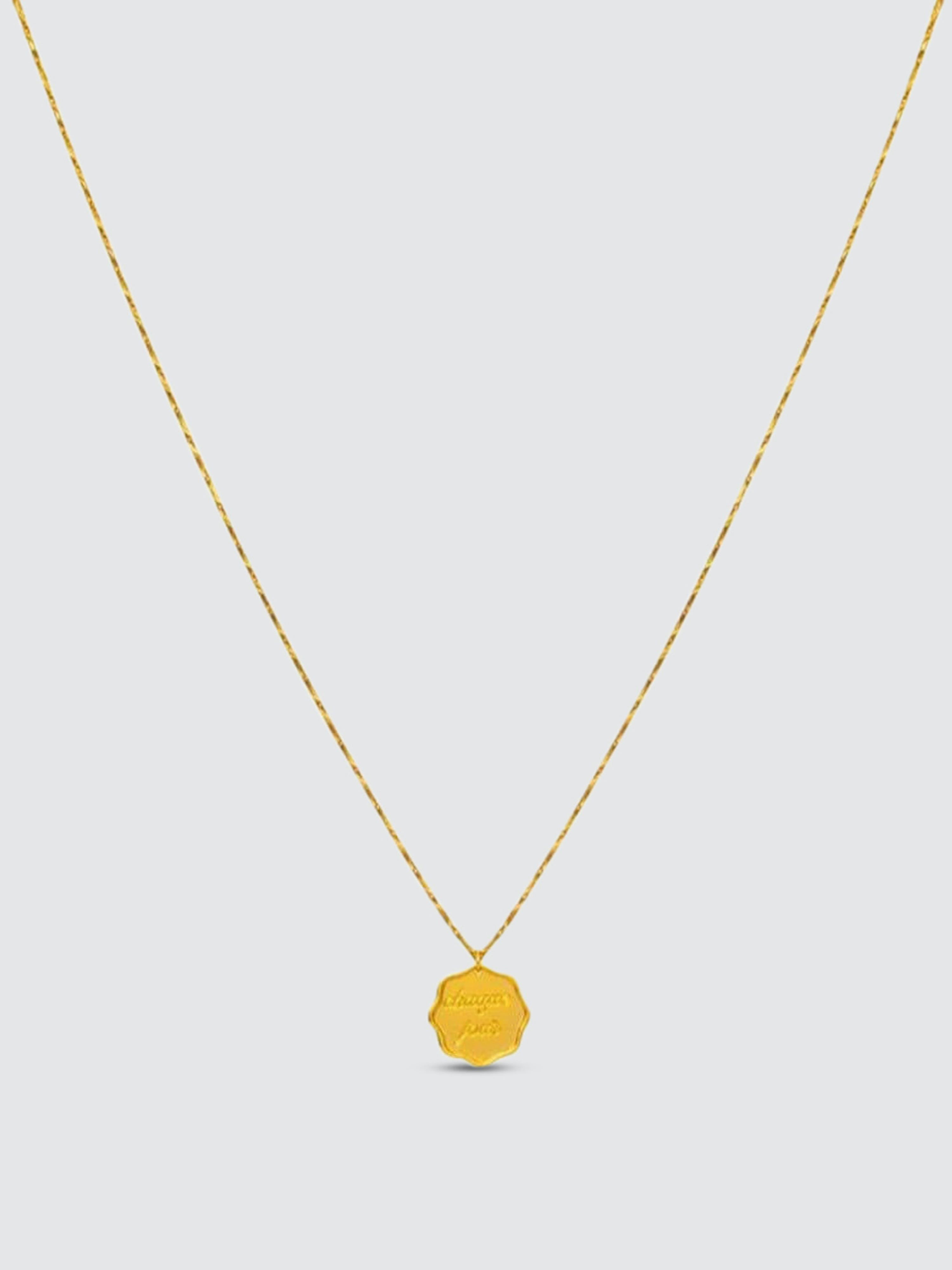 Jonesy Wood Chaque Jour Necklace In Gold