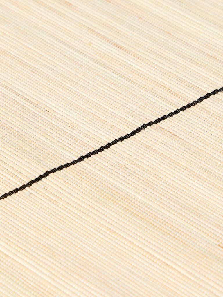 KAZI Goods Natural Striped Raffia Placemat, Set of 2 product image