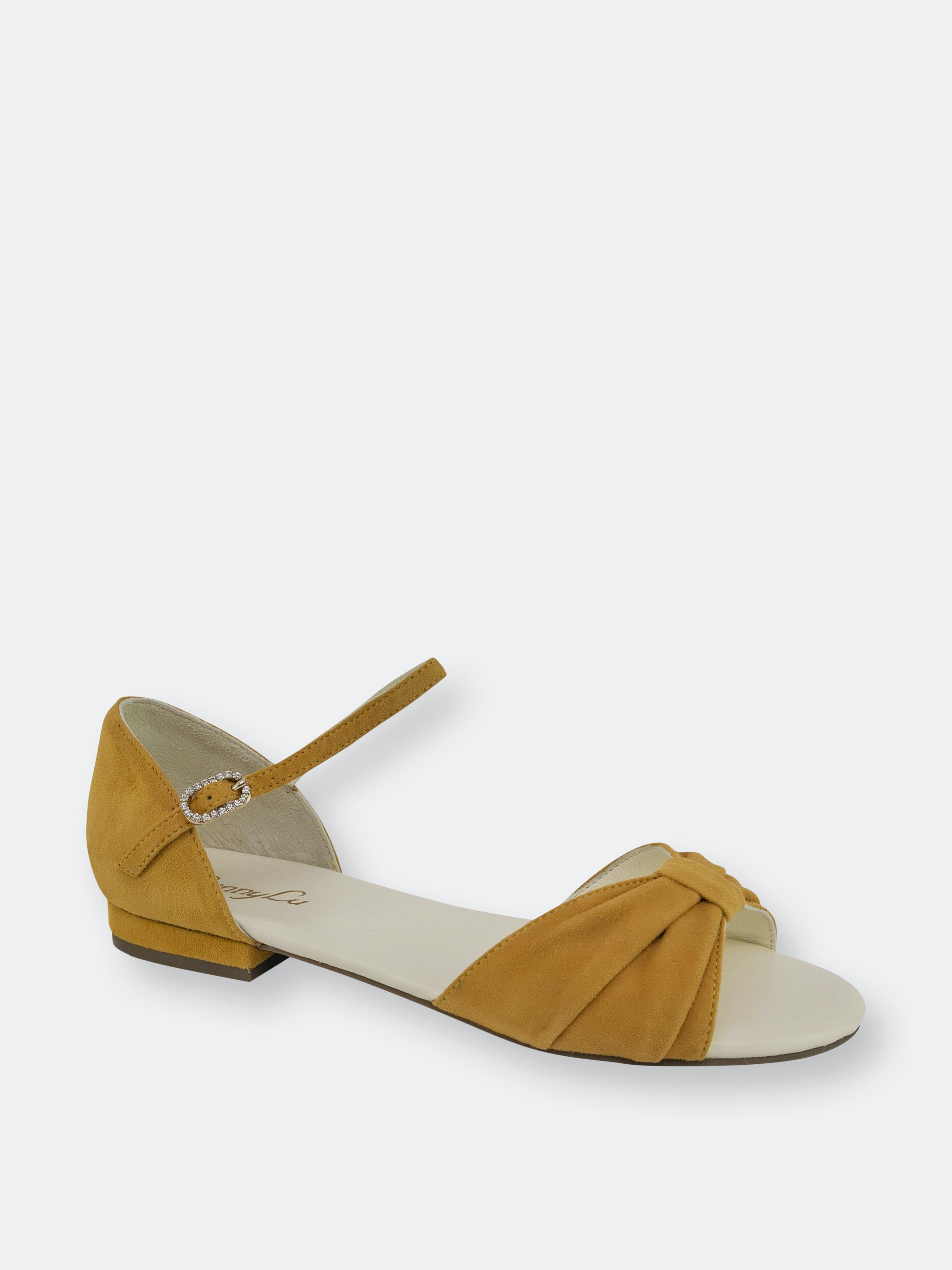 Lennylu Athena Bow Sandal In Brown