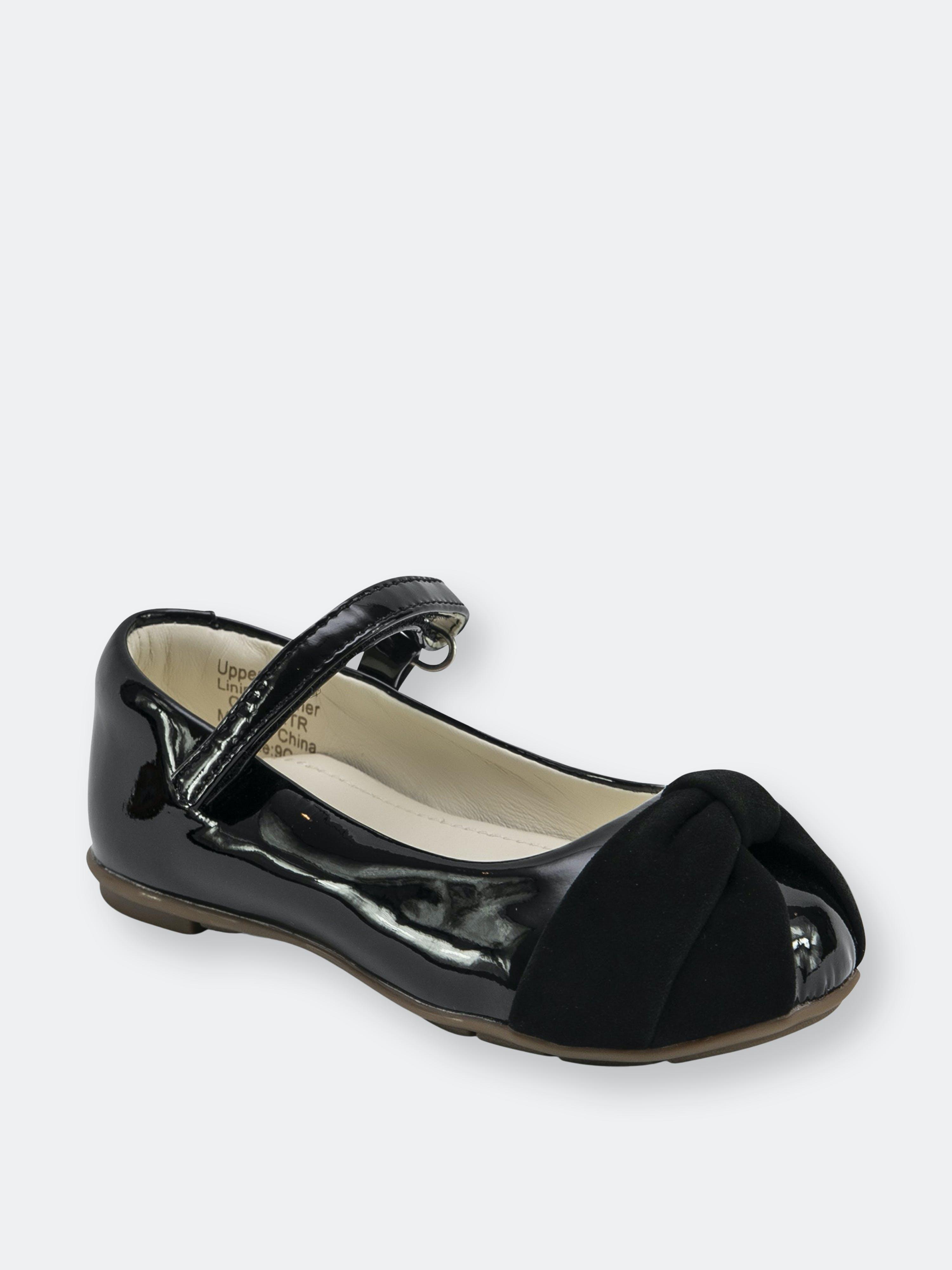 Lennylu Kids'  Nina Ballerina- Patent Black