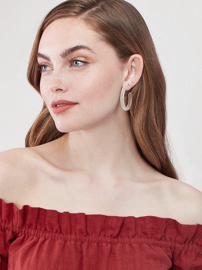 Machete Jewelry Midi Hoops product image