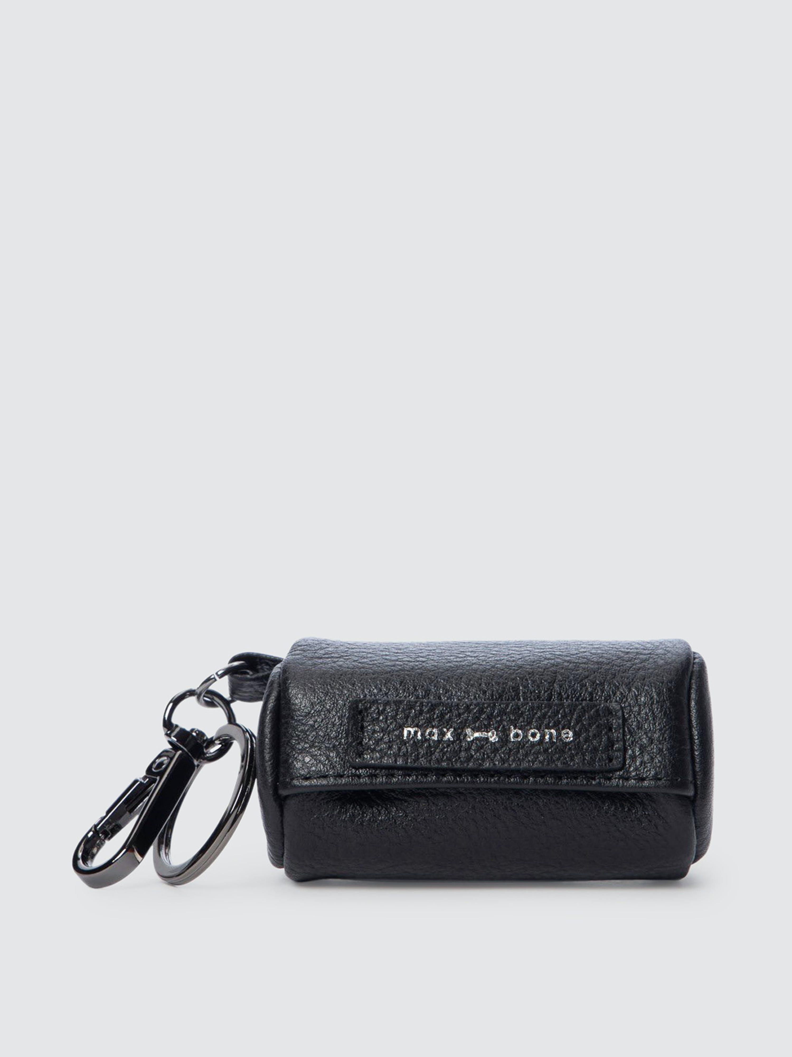 Max Bone Abigail Poop Bag Holder In Black