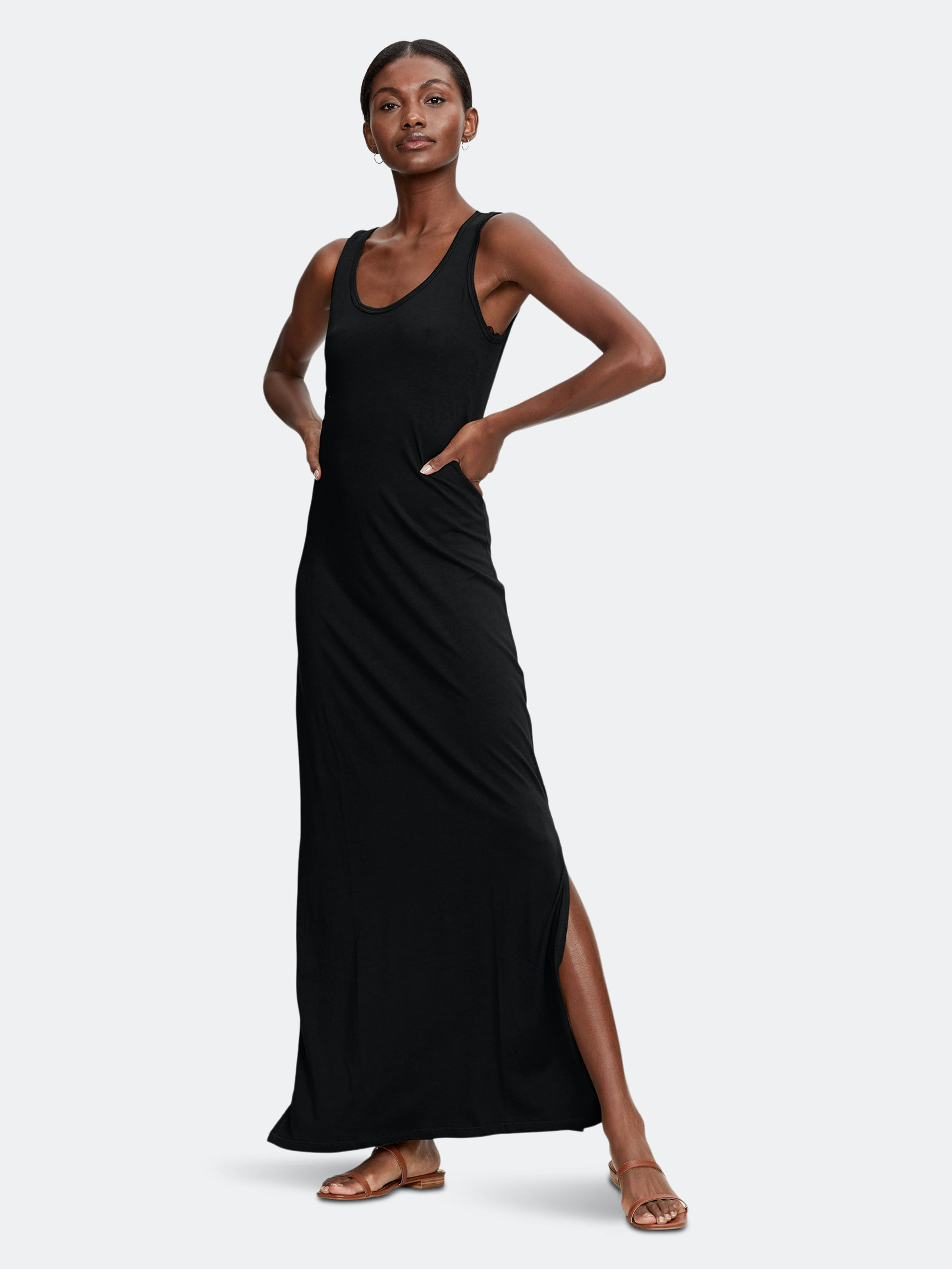 Michael Stars Isabelle Maxi Dress In Black