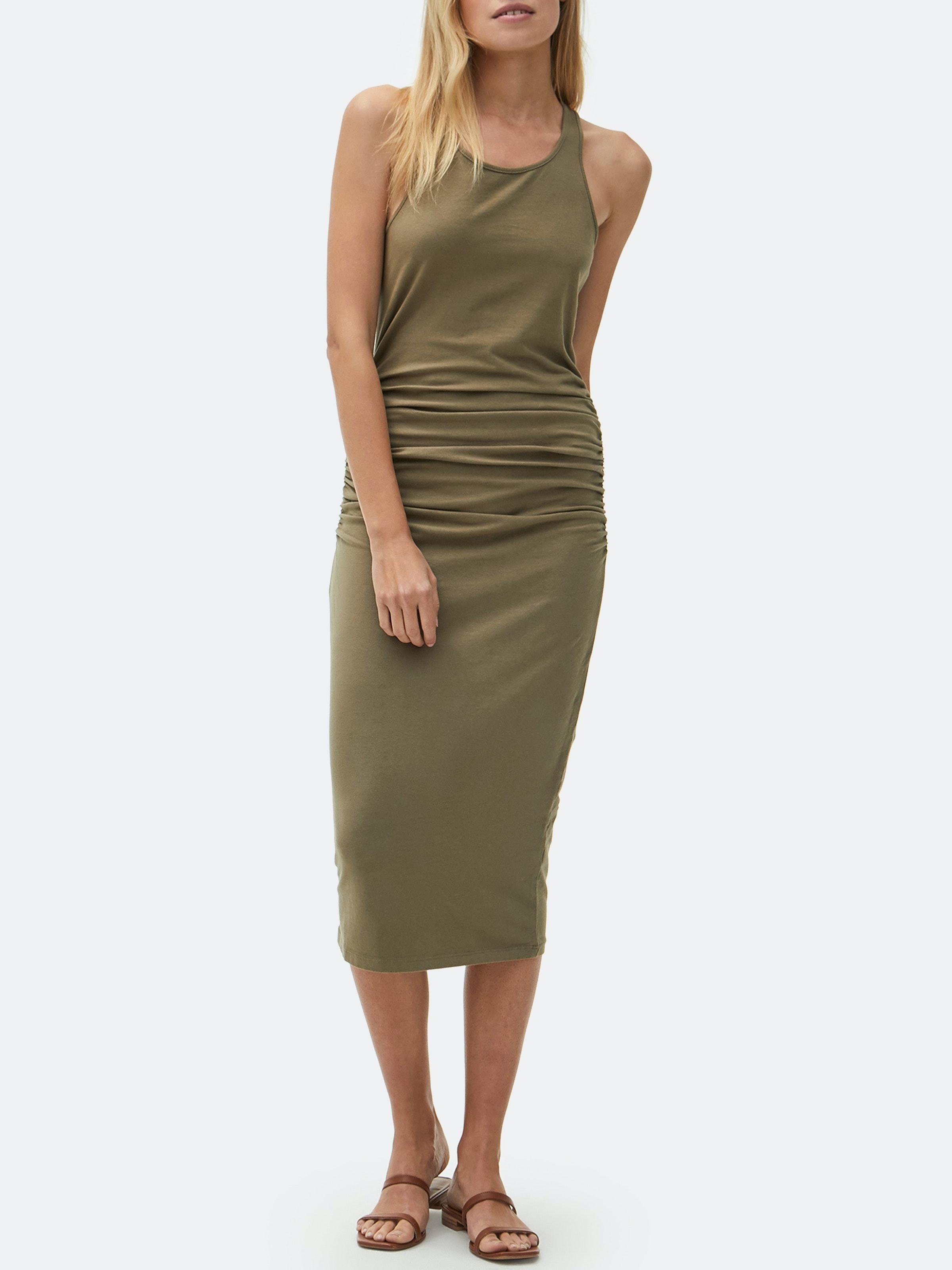 Michael Stars Womens Cotton Lycra Racerback Midi Dress