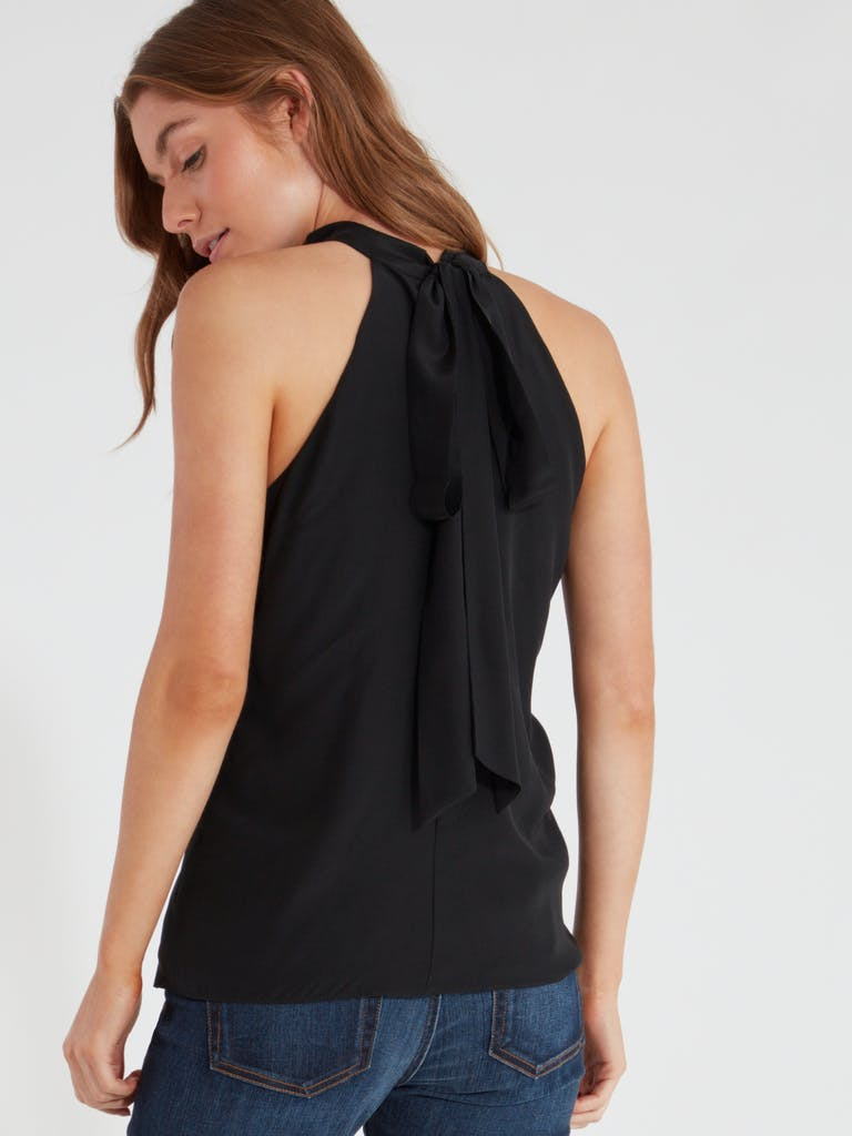 MILLY Emma Tie Neck Top product image