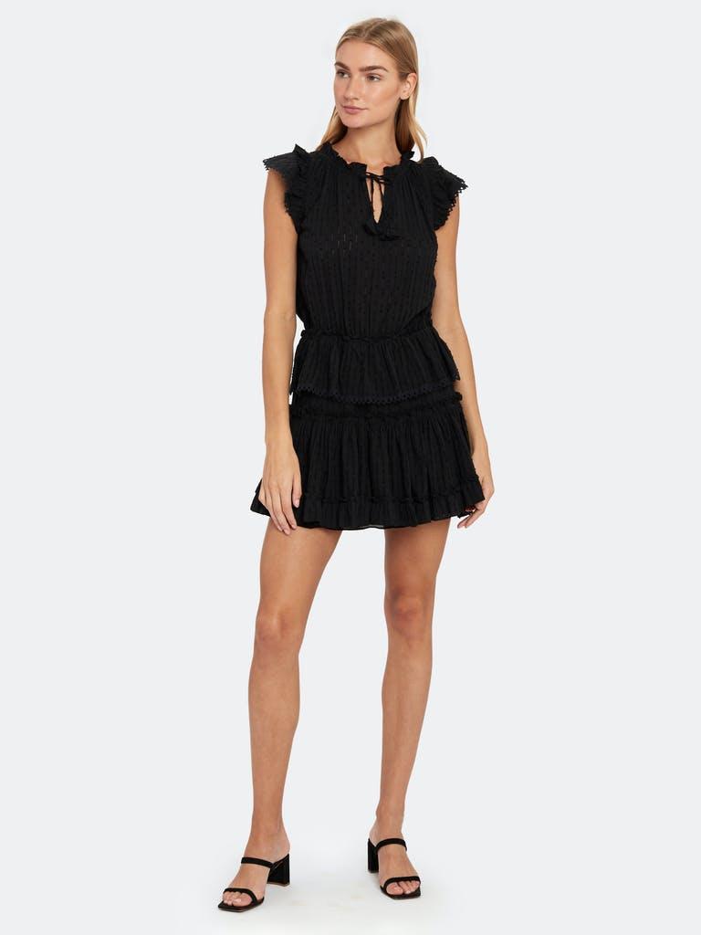 Misa Los Angeles Lillian Ruffle Mini Dress Verishop