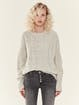 NSF Clothing Anabell Destructed Cable Knit Sweater product image