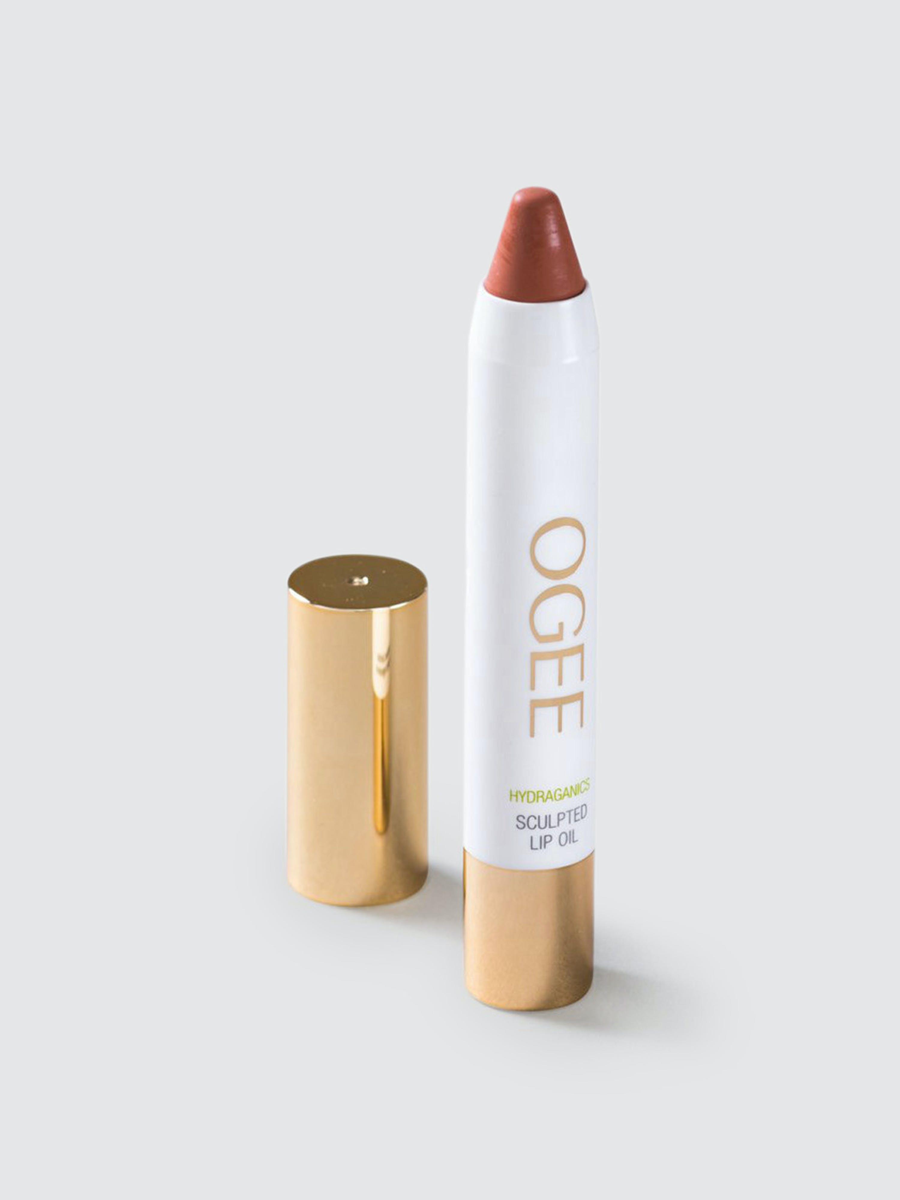 Ogee Luxury Organics Tinted Sculpted Lip Oil In Brown