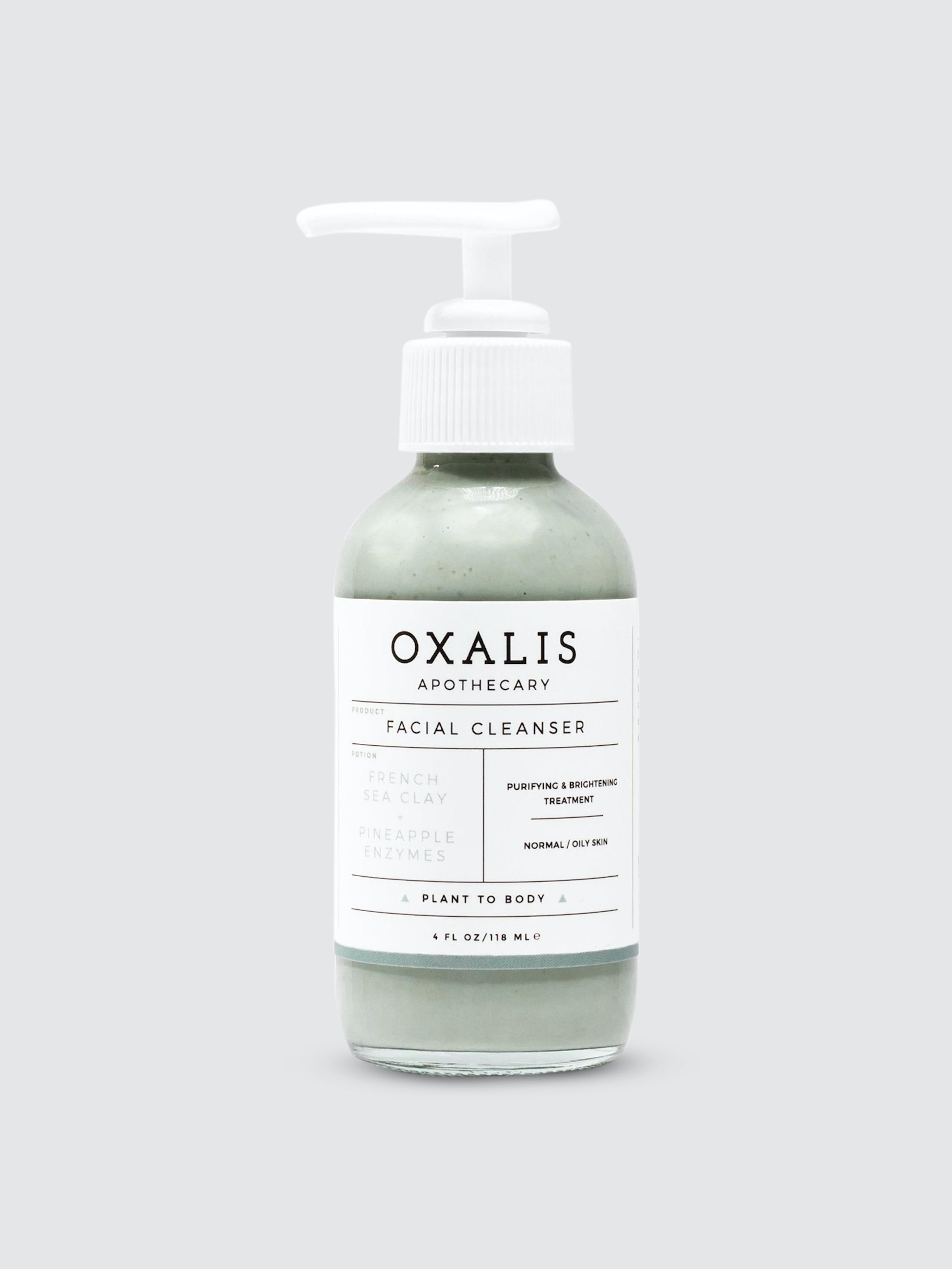 Oxalis Apothecary Facial Cleanser | French Sea Clay + Pineapple Enzymes