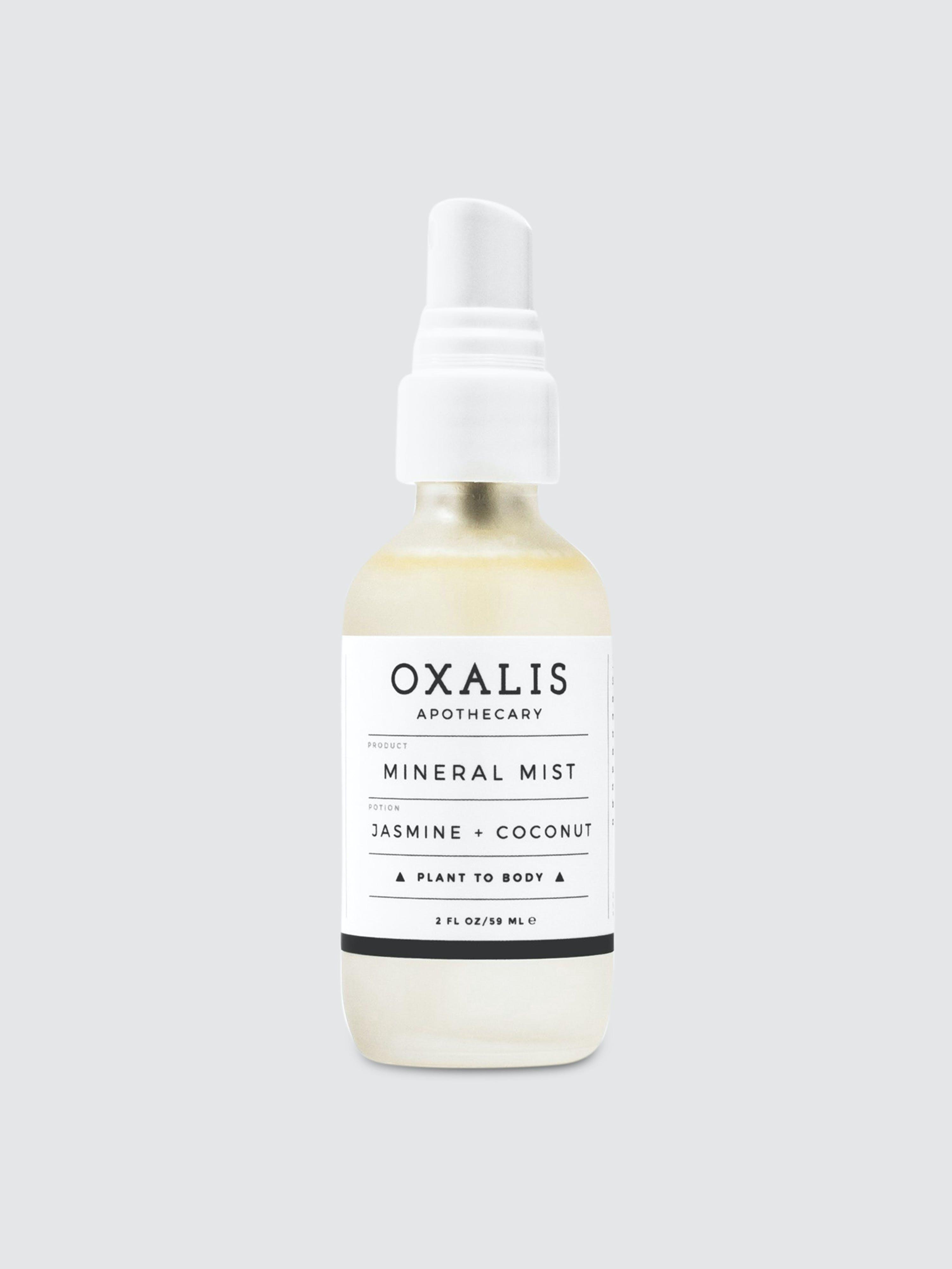 Oxalis Apothecary Mineral Mist | Jasmine + Coconut