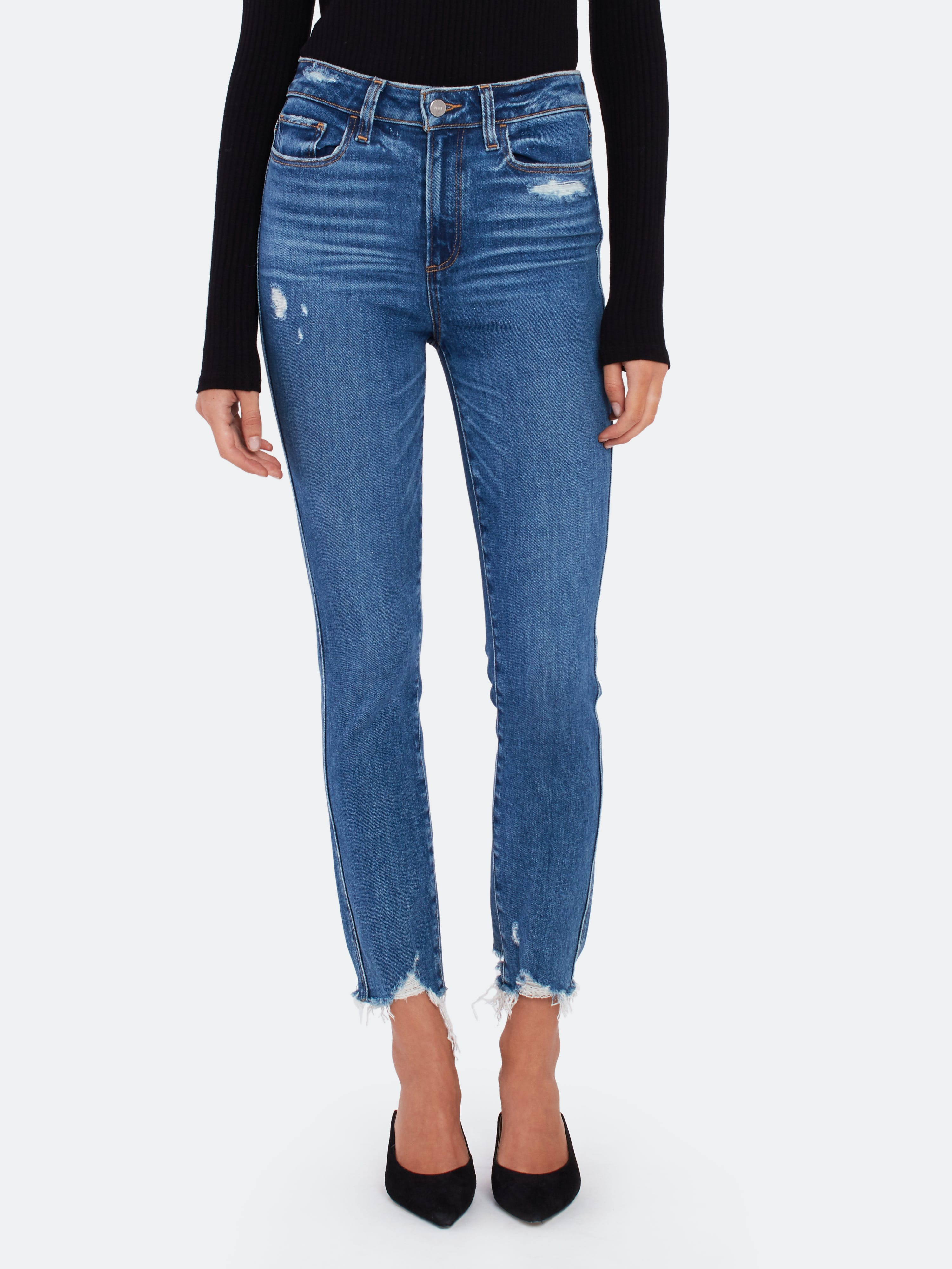 Paige PAIGE HOXTON HIGH RISE SKINNY ANKLE JEANS