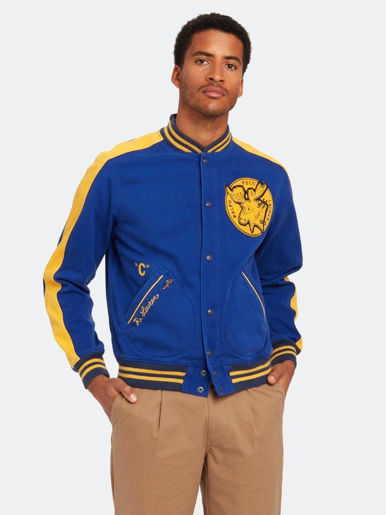 Polo Ralph Lauren logo applique denim varsity bomber