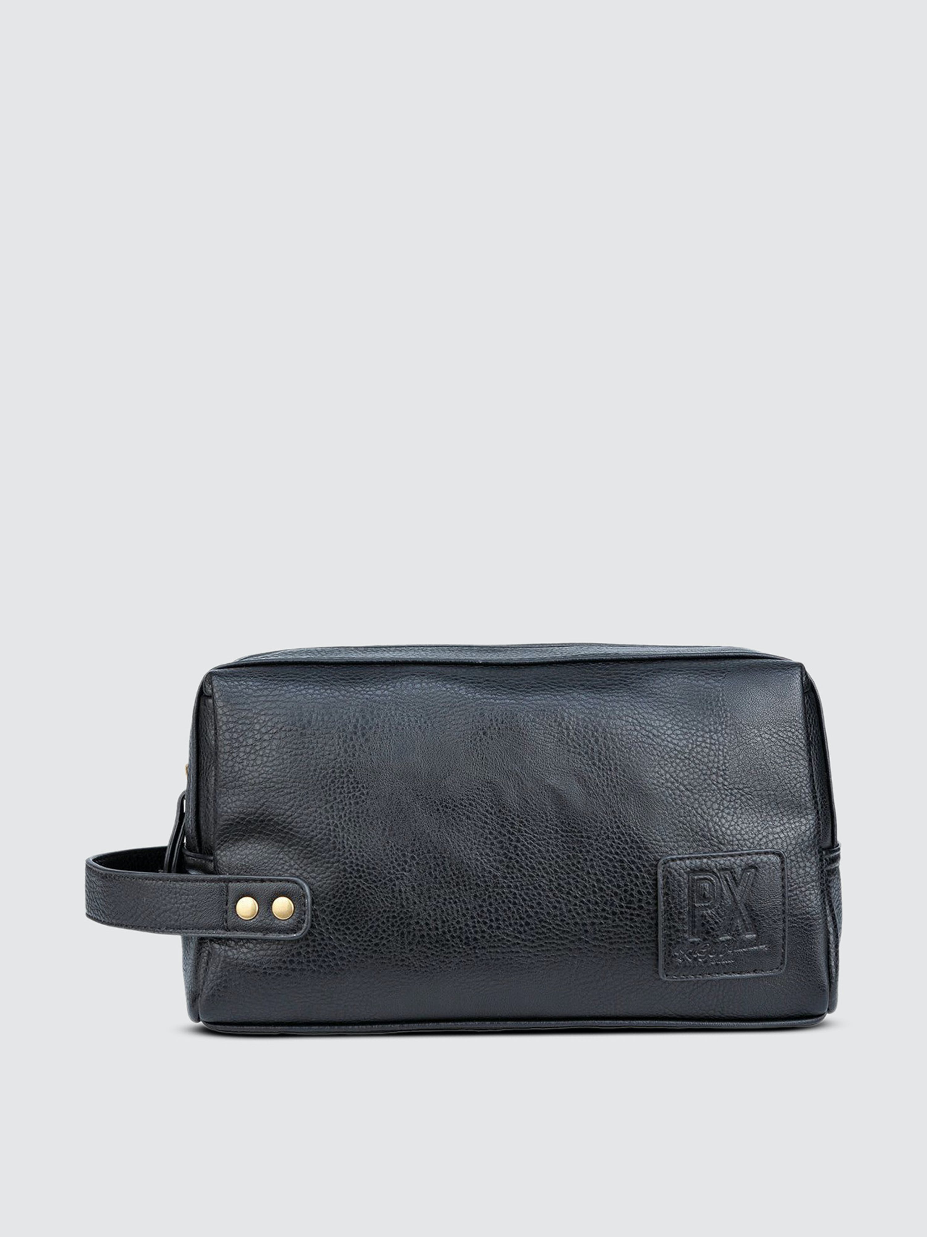 Px Black Fletcher Vegan Leather Dopp Kit